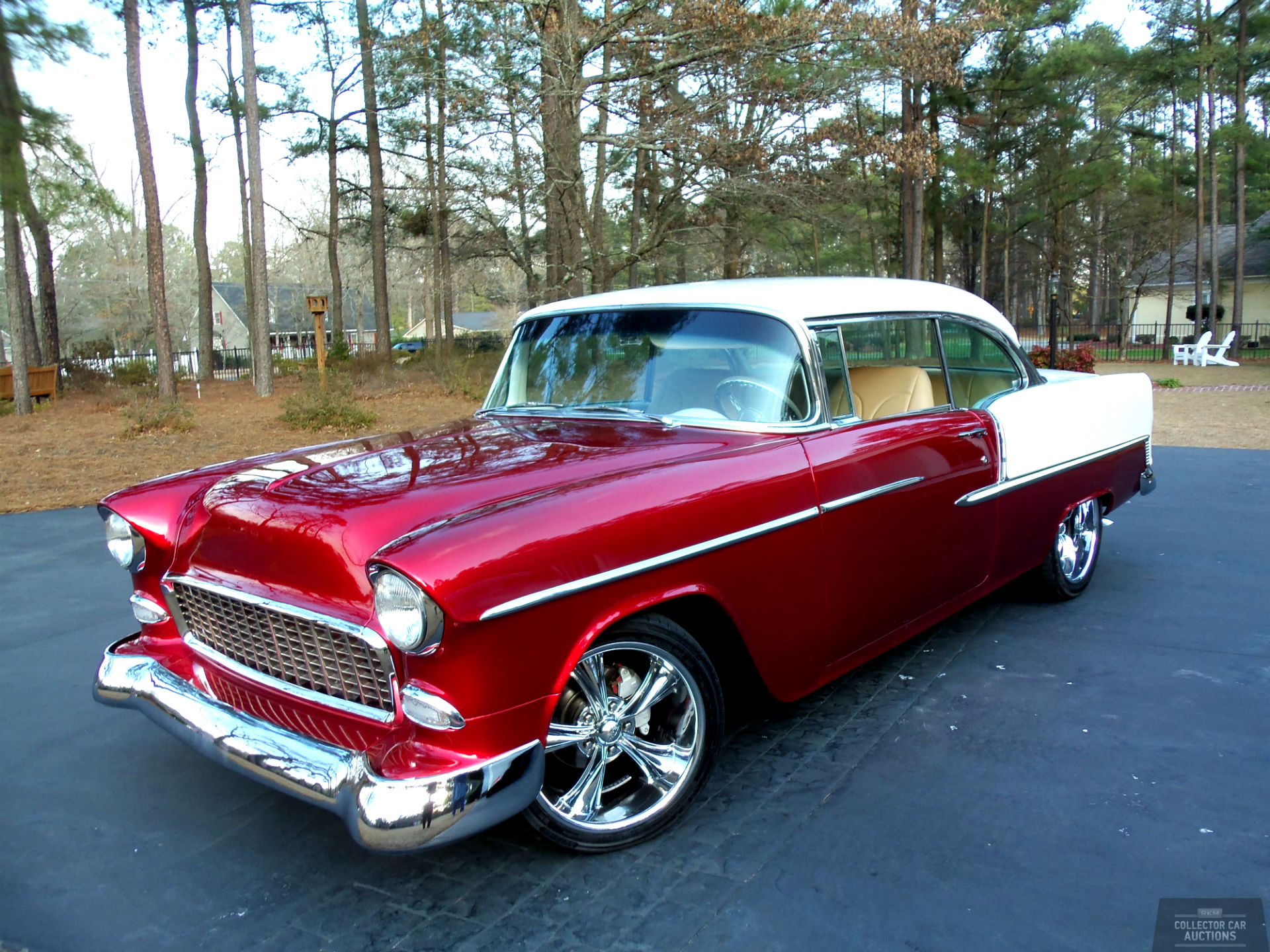 1955 CHEVROLET BEL AIR 350CI 4-SPEED AUTO hot rod classic cars