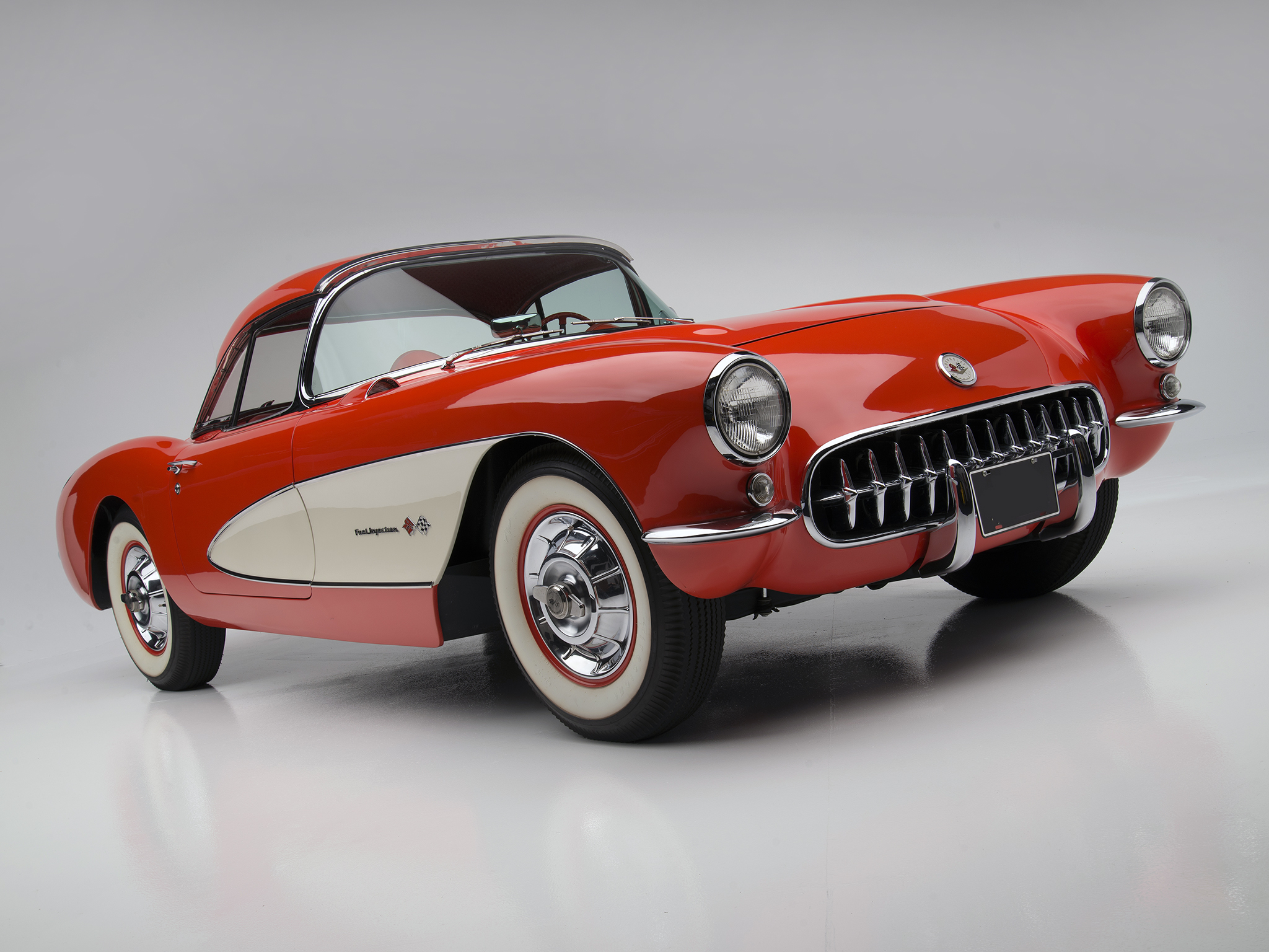 1957 Chevrolet Corvette C-1 Fuel Injection retro muscle supercar supercars  d