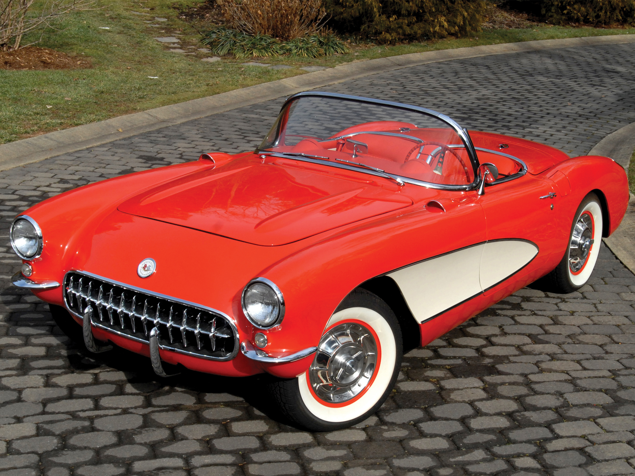 1957 Chevrolet Corvette C-1 supercar muscle retro  h