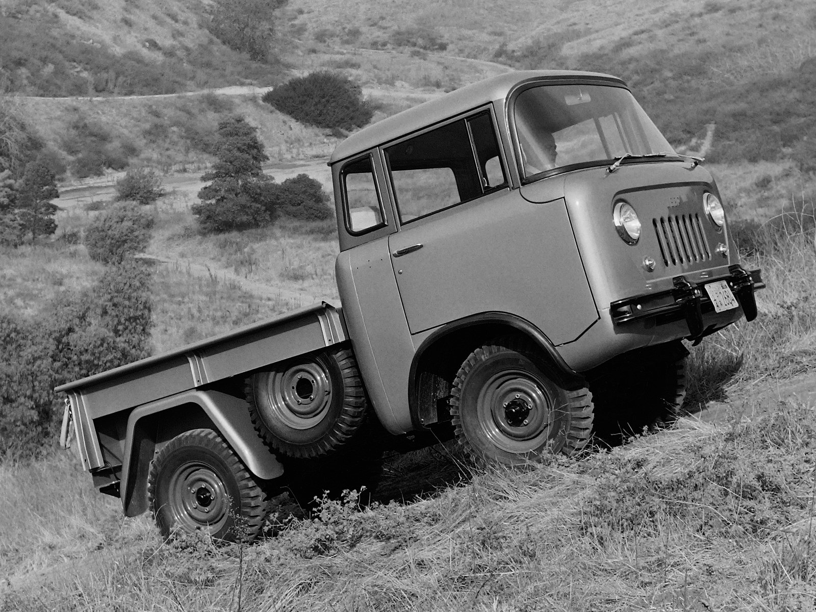 1957 Willys Jeep FC-150 4x4 pickup offrosd military (3)