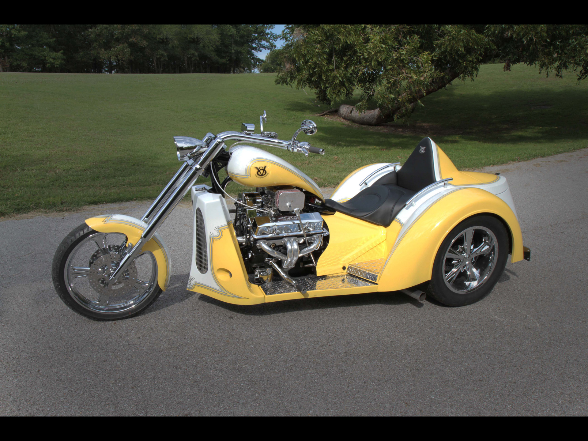 2011 V8-Choppers SP-Series Touring Trike muscle v-8 chopper choppers hot rod rods bike engine engines      gb