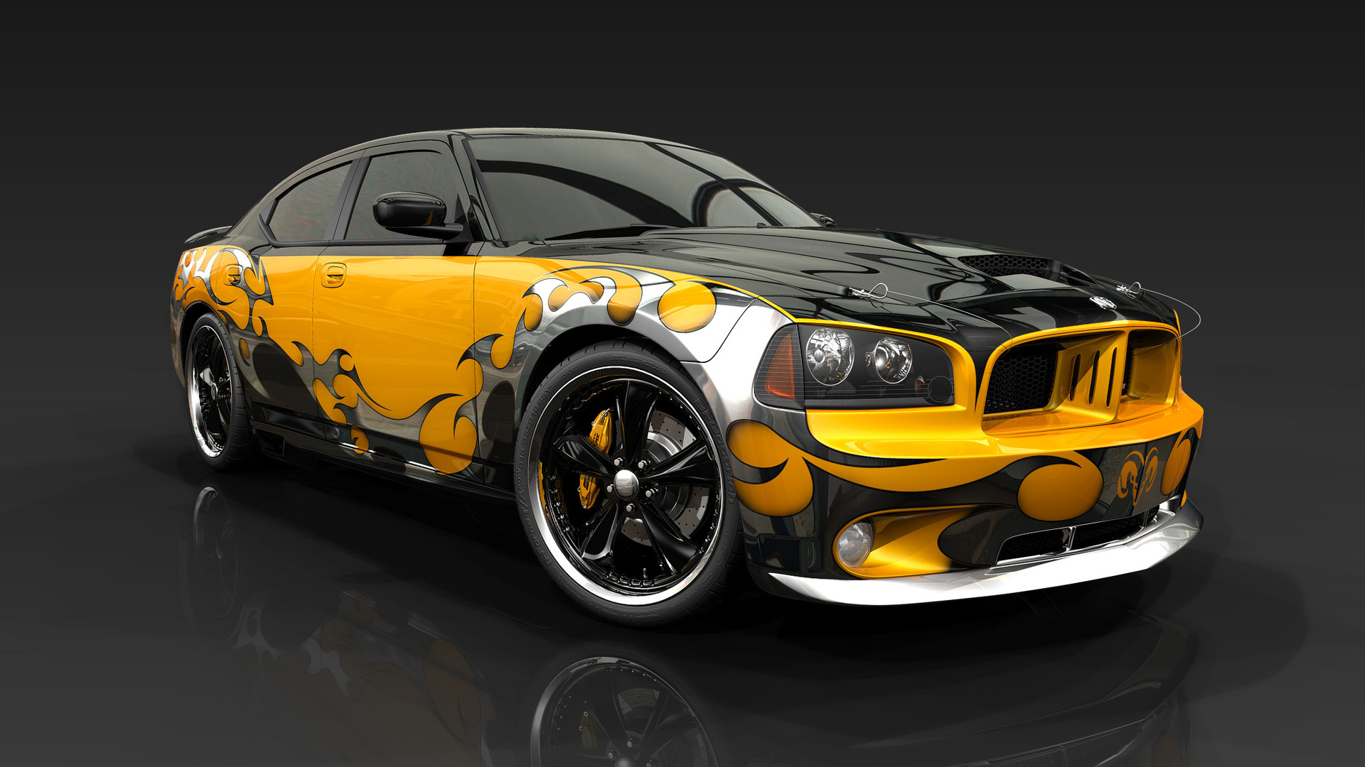 2013 Dodge Charger tuning muscle cars design graphic