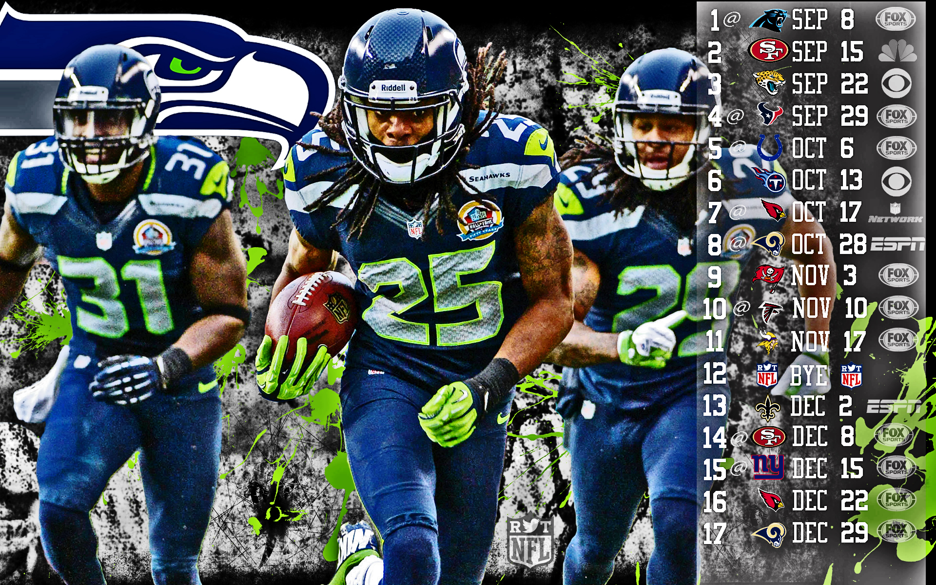 2013 Seattle Seahawks nfl football    h