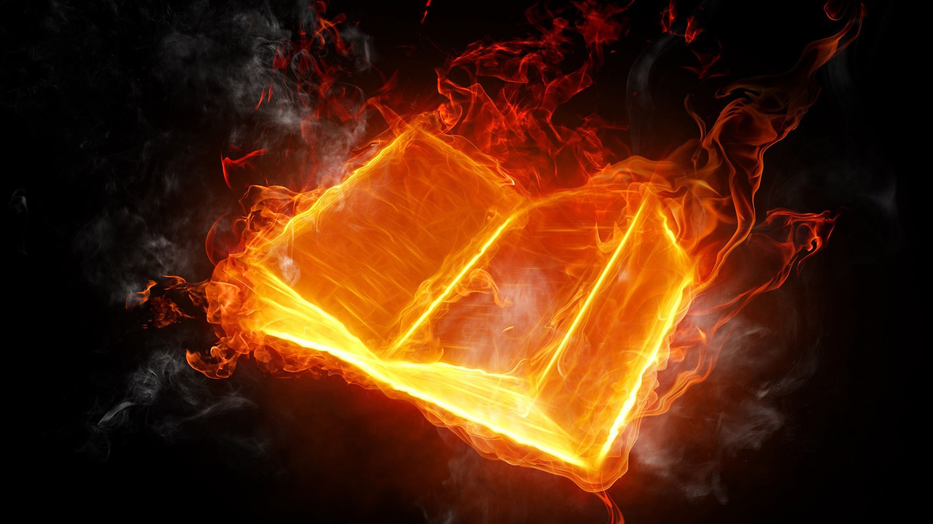 3D Fire Book Image - 3D HD