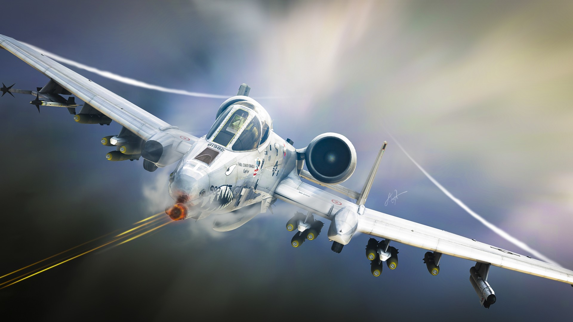 A-10 Tankbuster attack aircraft airplane aviation art military