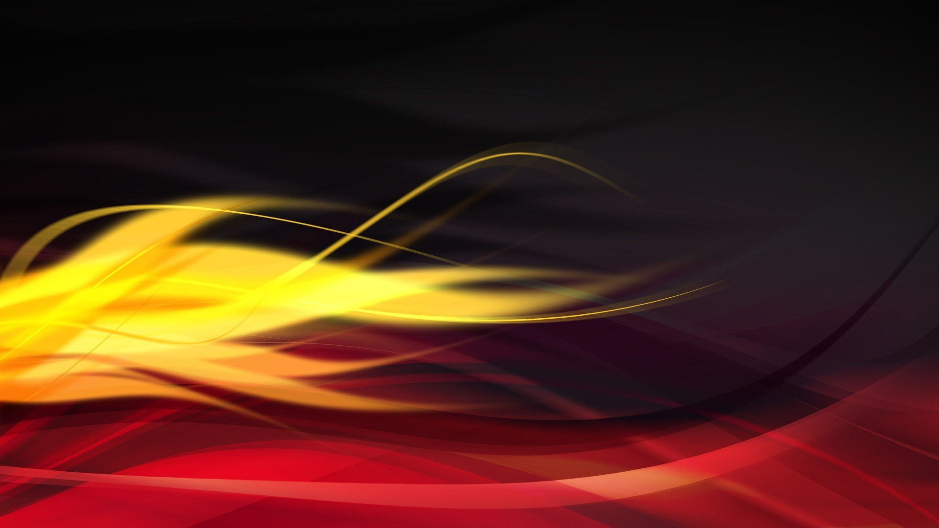 abstract black digital art red flame