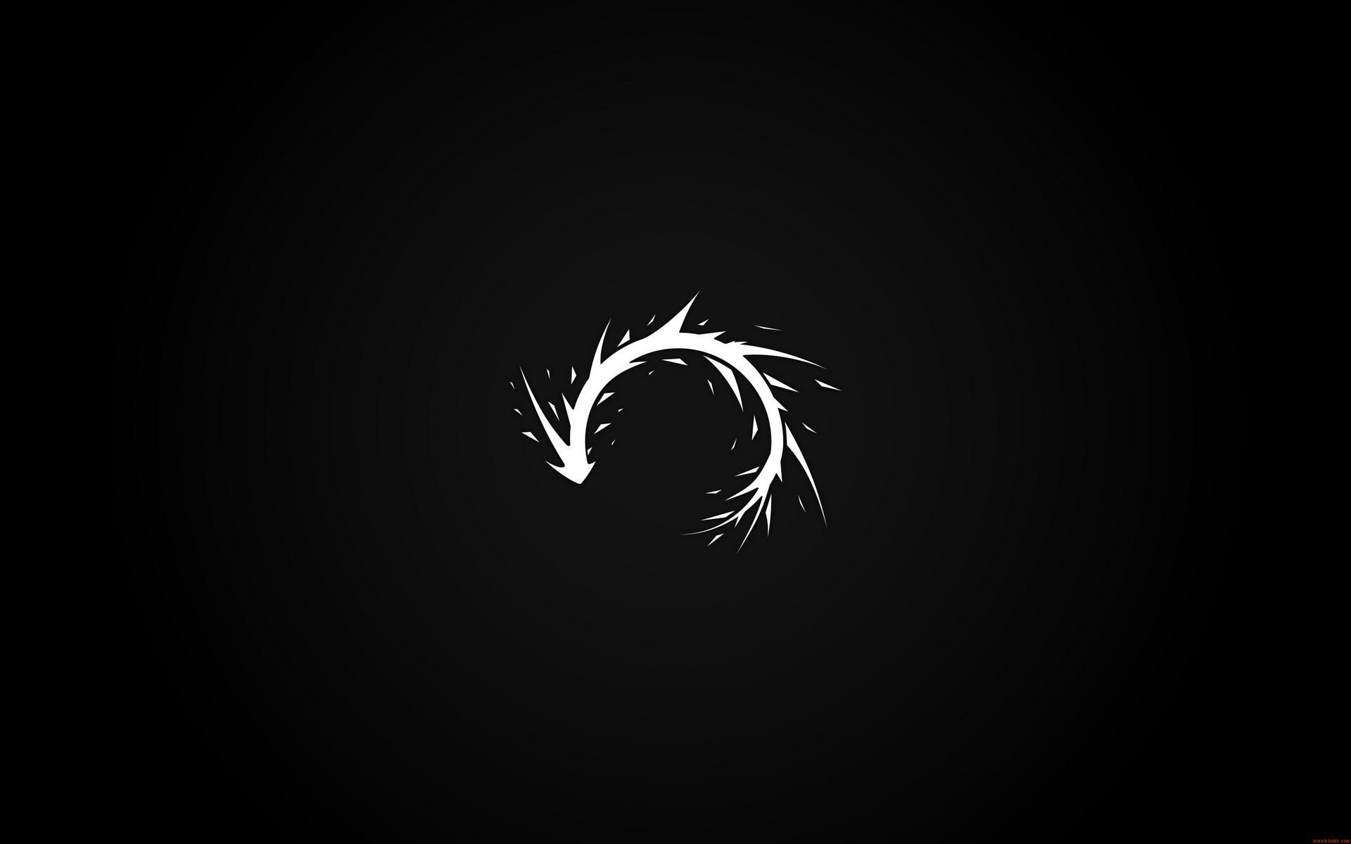 Abstract black minimalistic dark white paint splatter arrows black background curved