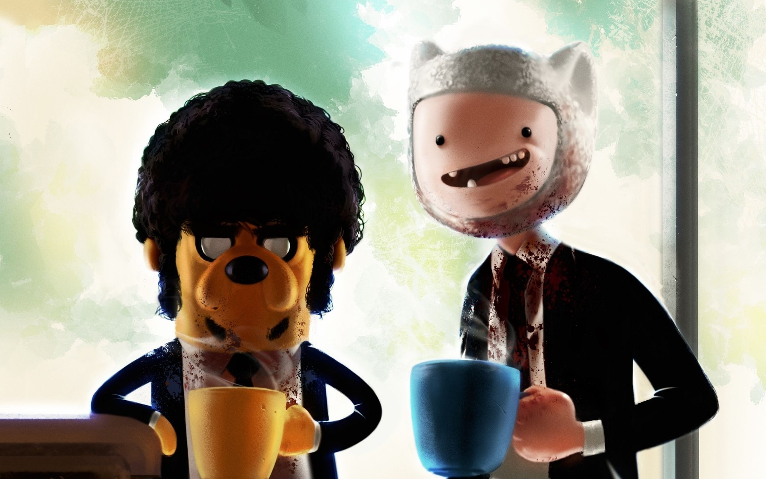 Adventure Time Pulp Fiction crossover