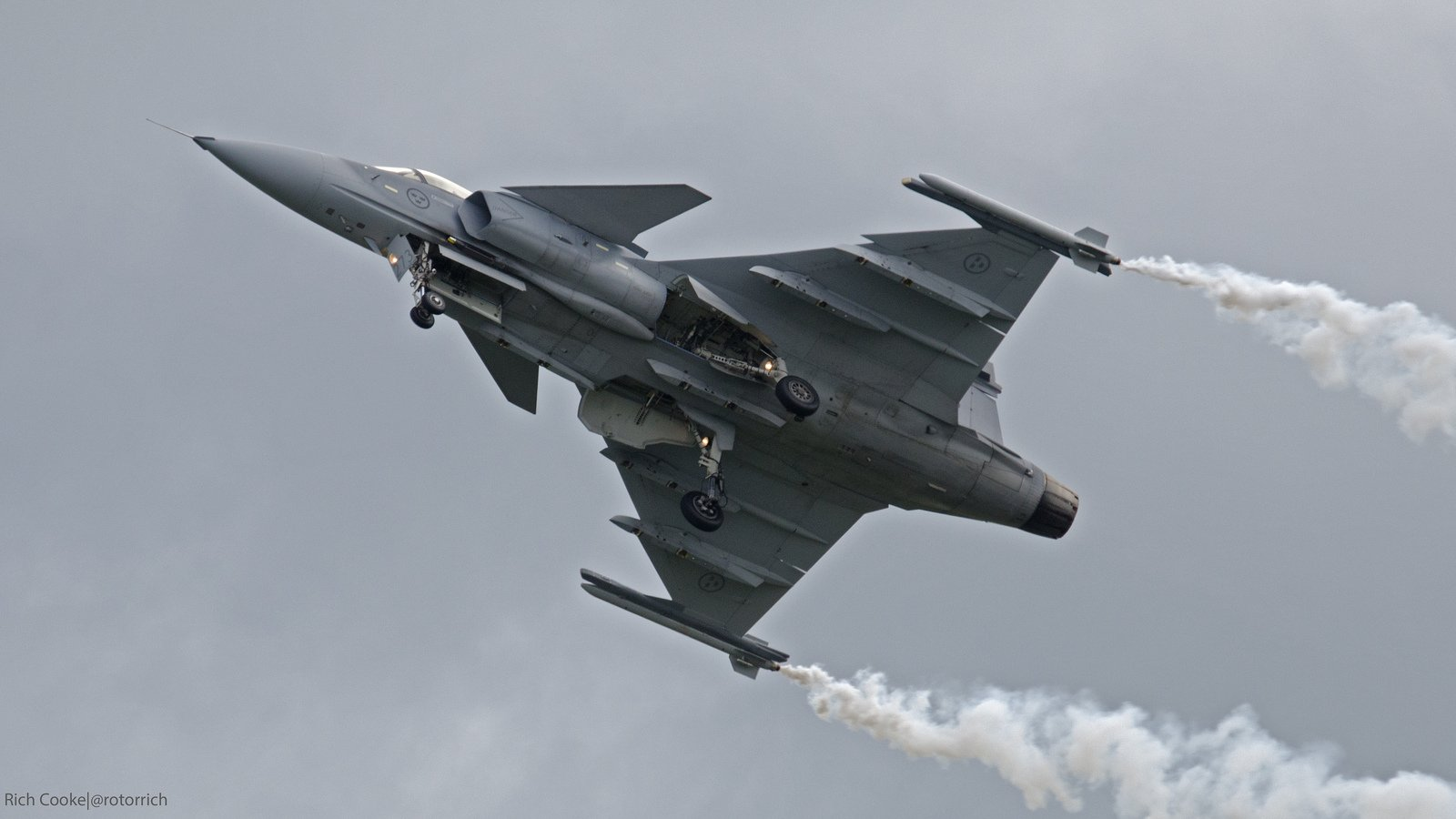 Air aircraft Fighter force gripen jas 39 jet Military saab swedish