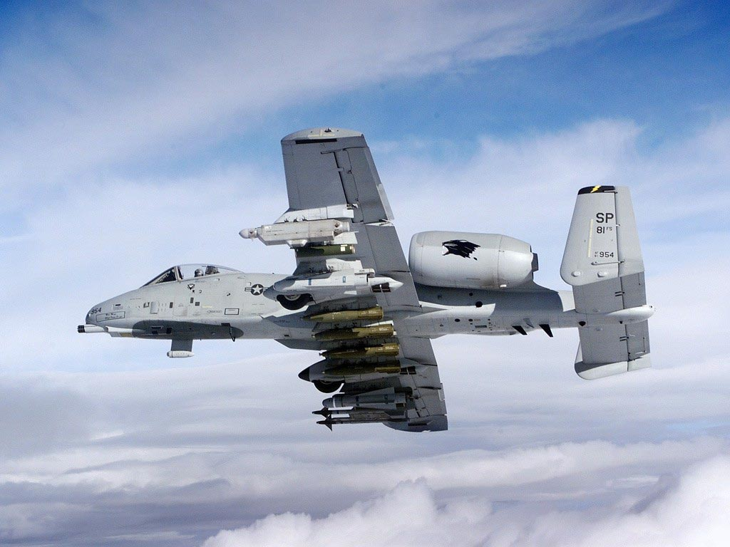 aircraft military Warthog planes vehicles A-10 Thunderbolt II A-10