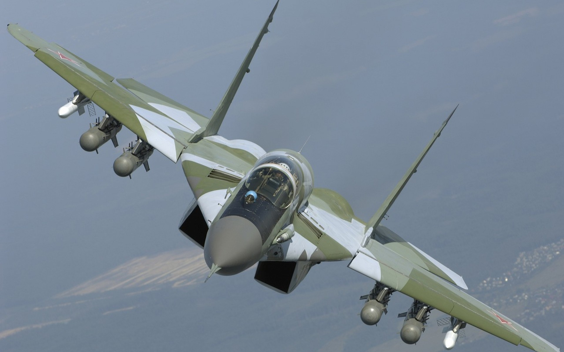 airplane Fighter jet mig mig 29 Military plane russian