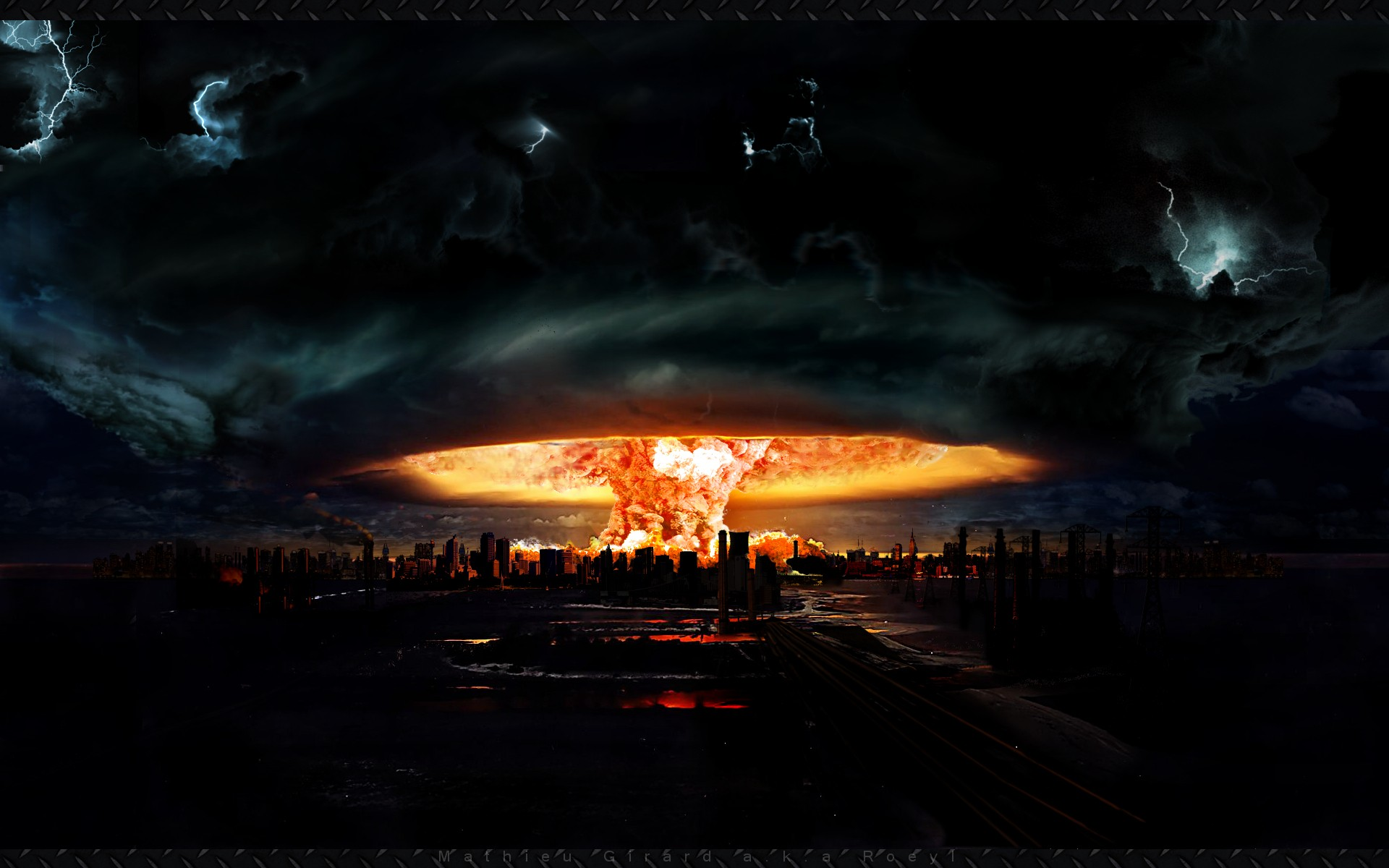 apocalypse the end nuclear explosions