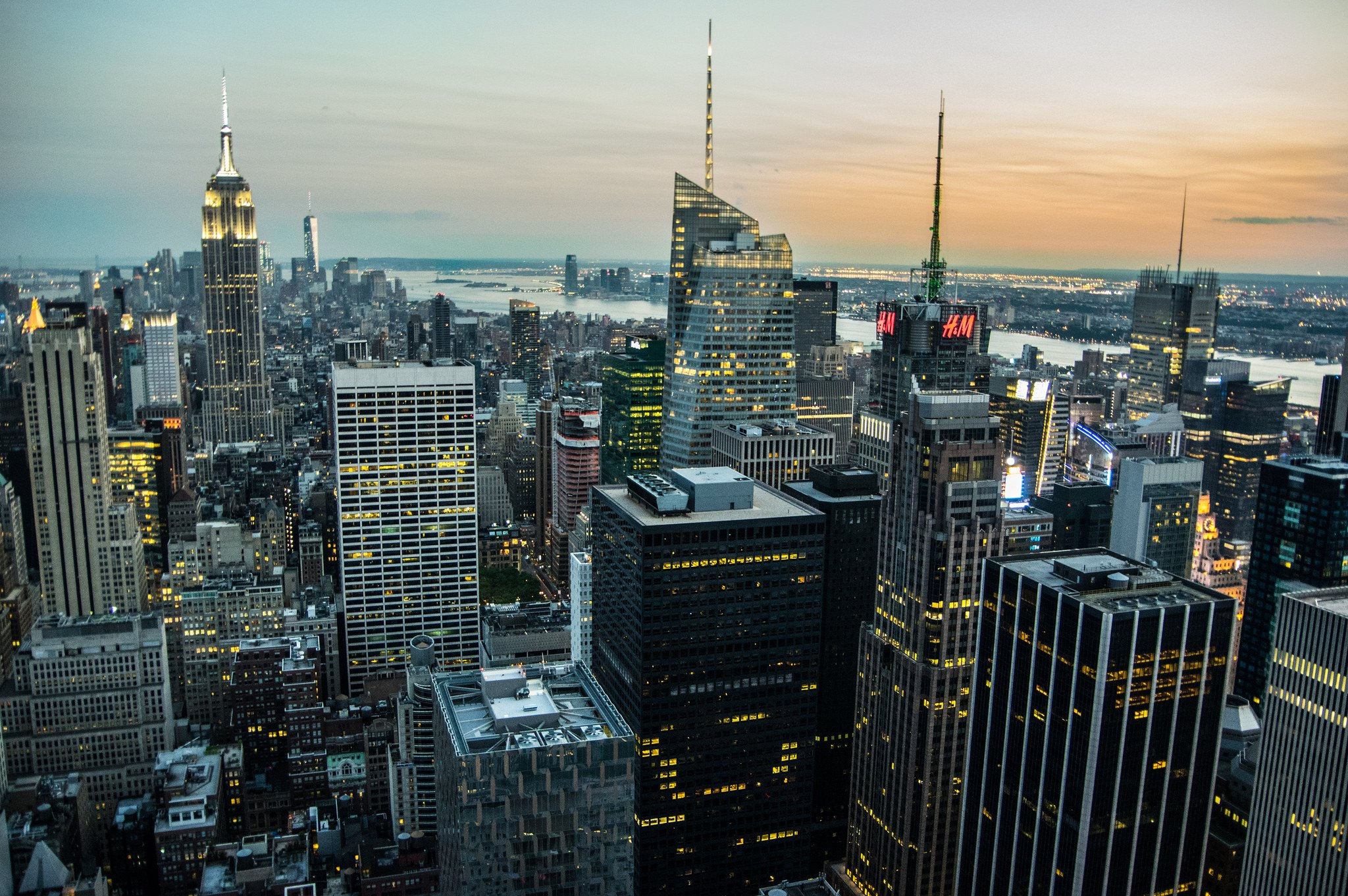 architecture bay black buildings cities clouds nyc rivers sky water world new York big apple