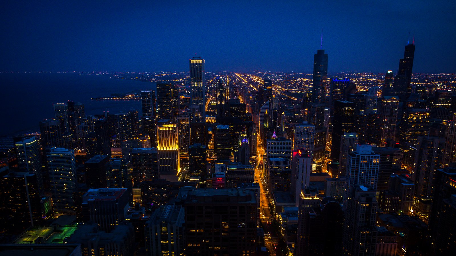 architecture bridges chicago cities City Francisco Night skyline USA Illinois Trump Tower Mid-Ouest comtA