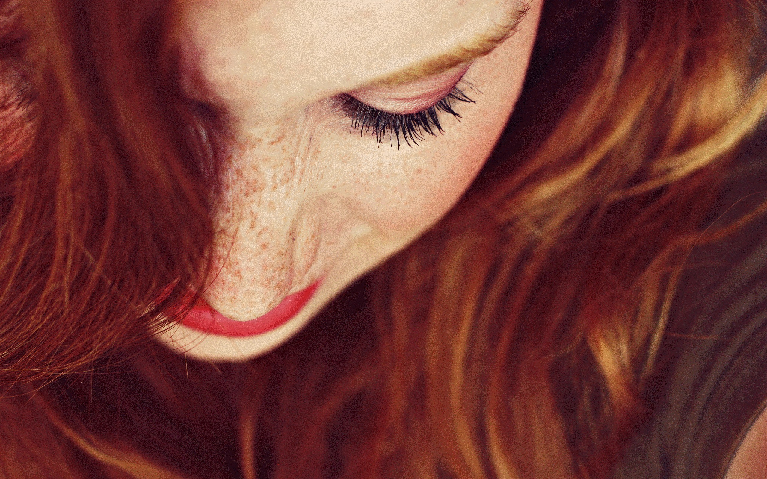 Art Photography Freckled Redhead Girl