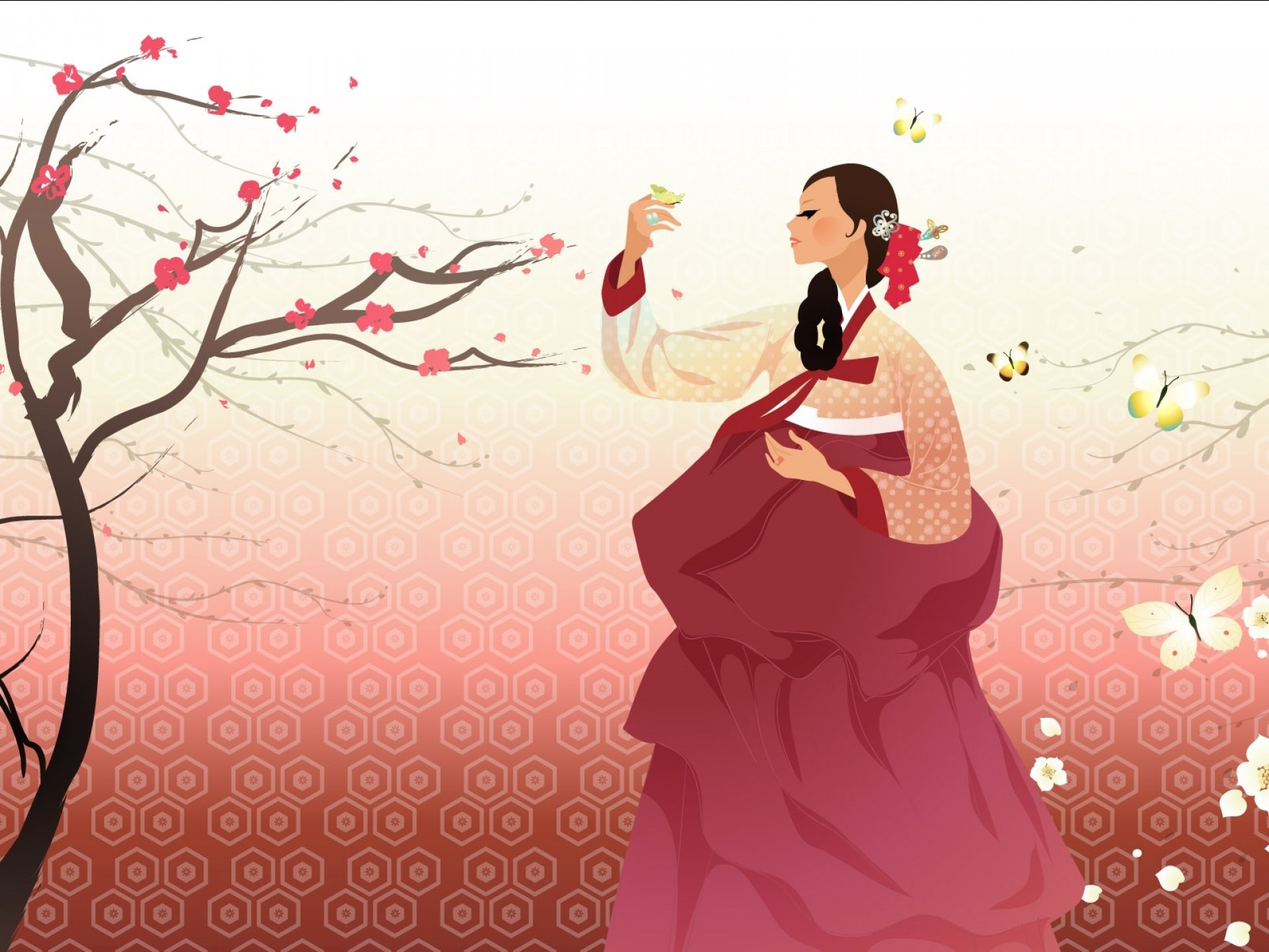 artistic art artwork women female girls girl woman asian oriental korean korea vector