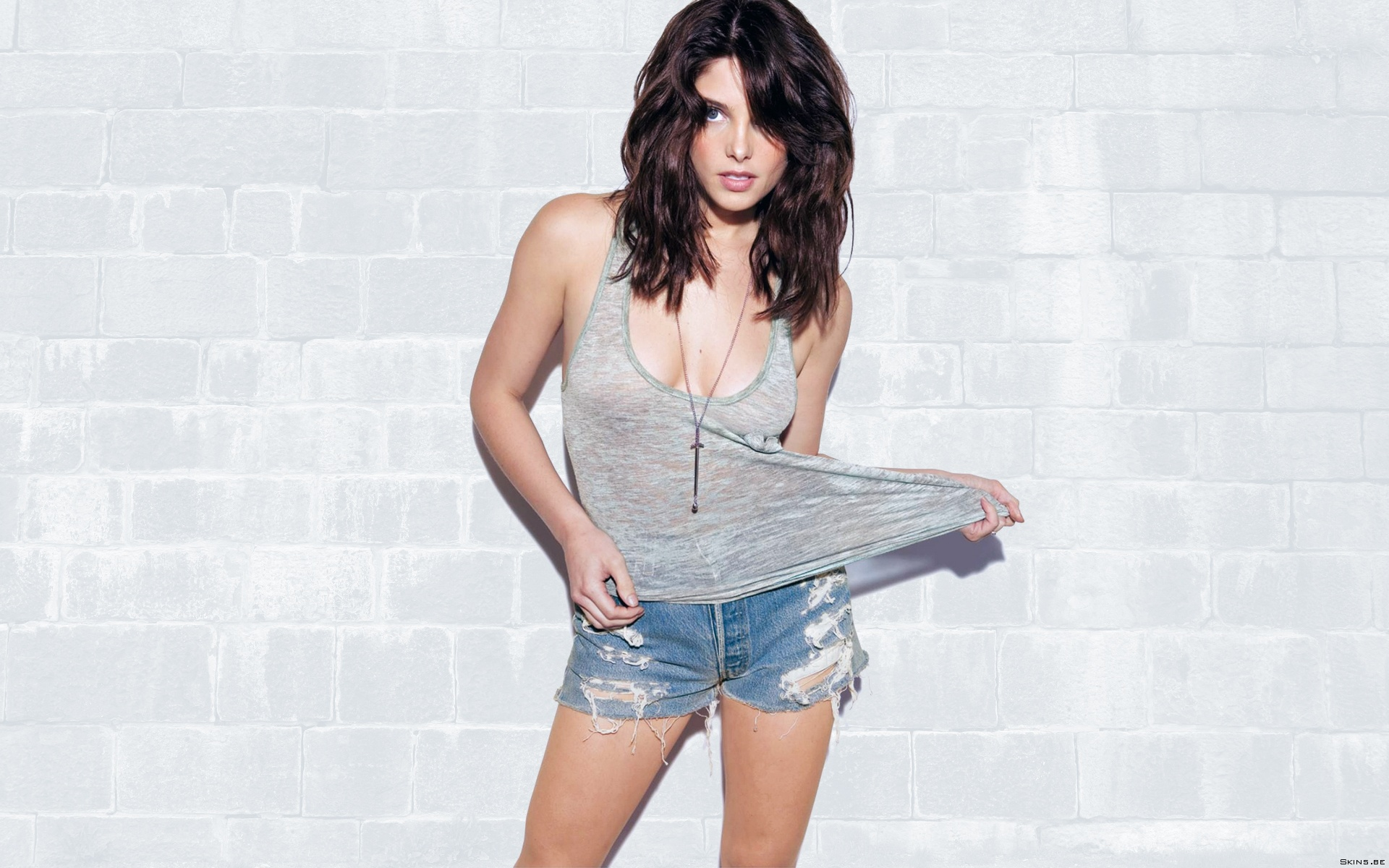 Ashley Greene actress model brunettes women females girls sexy babes cleavage legs face eyes