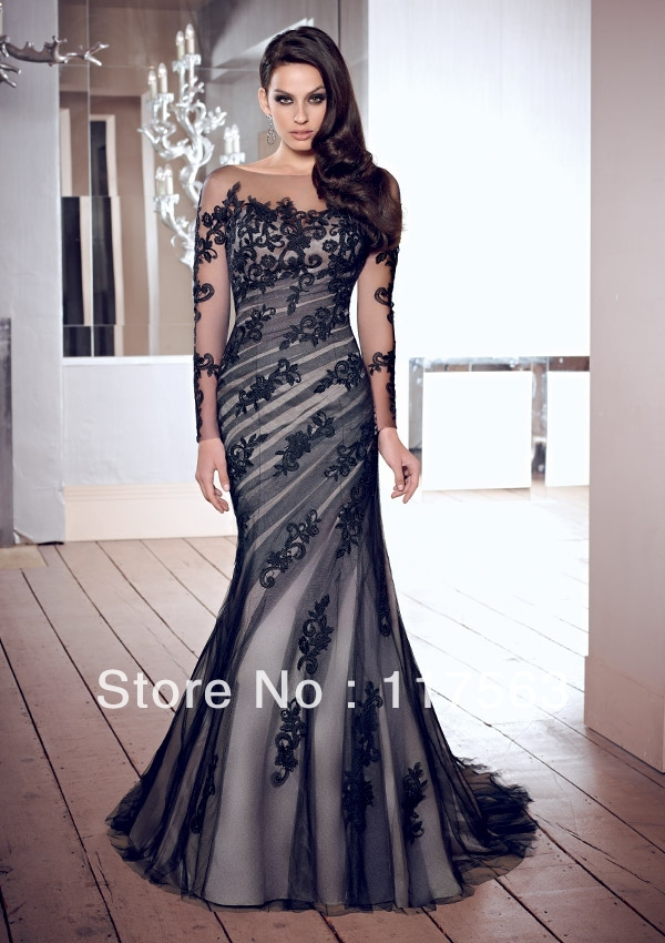 Beautiful woman in an evening gown
