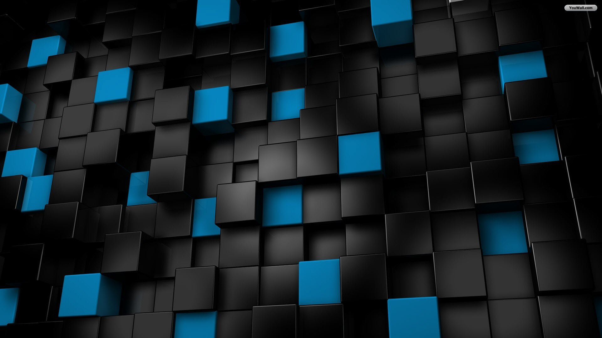 Black and blue cubes