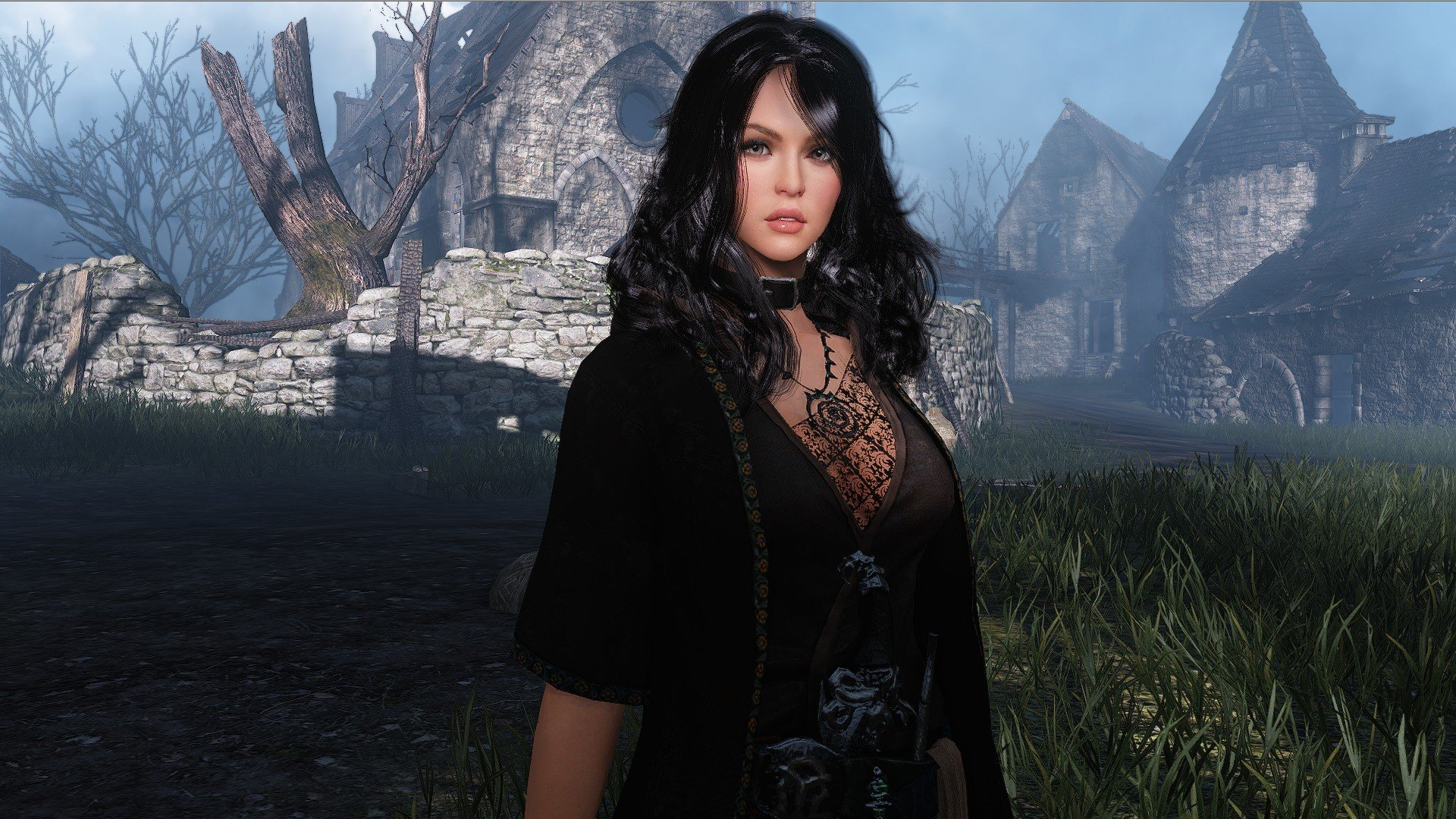 brunettes women mage video games RPG screenshots fantasy art wizards MMO MMORPG role playing game Black Desert Online