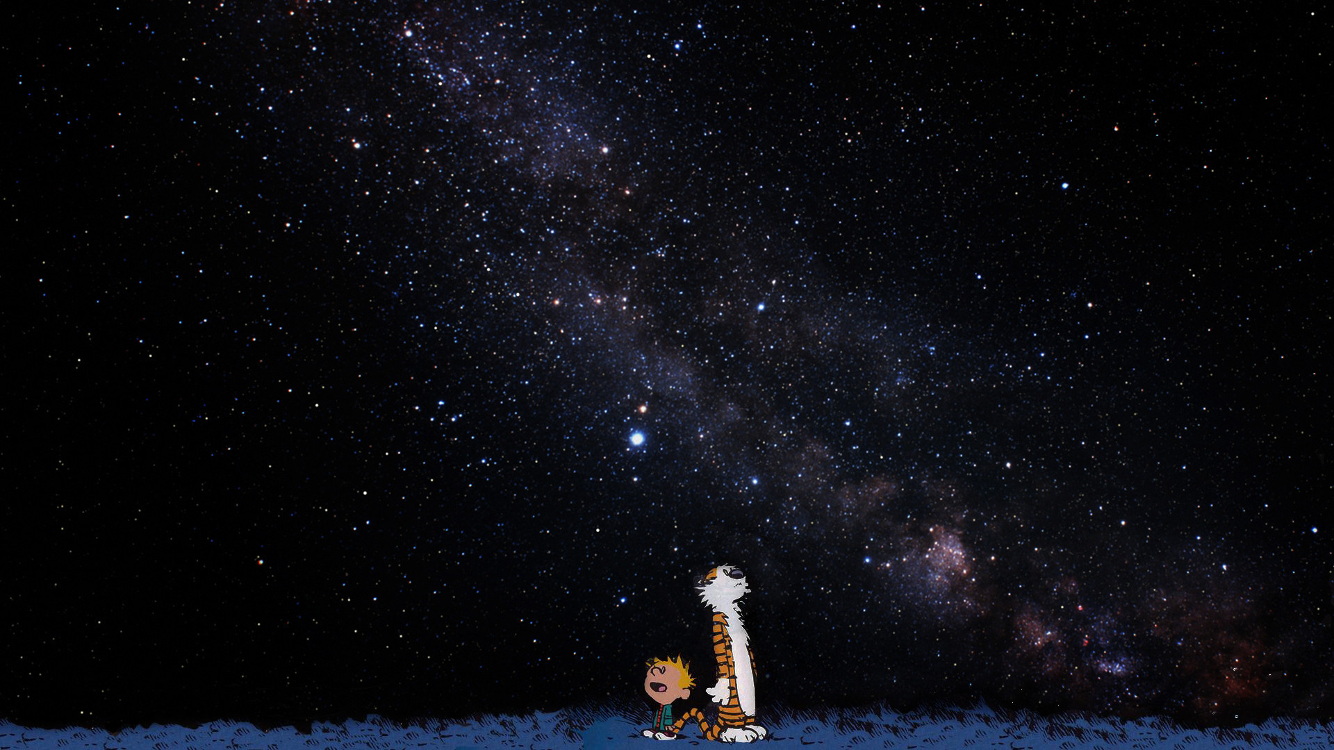 Calvin and Hobbes in space