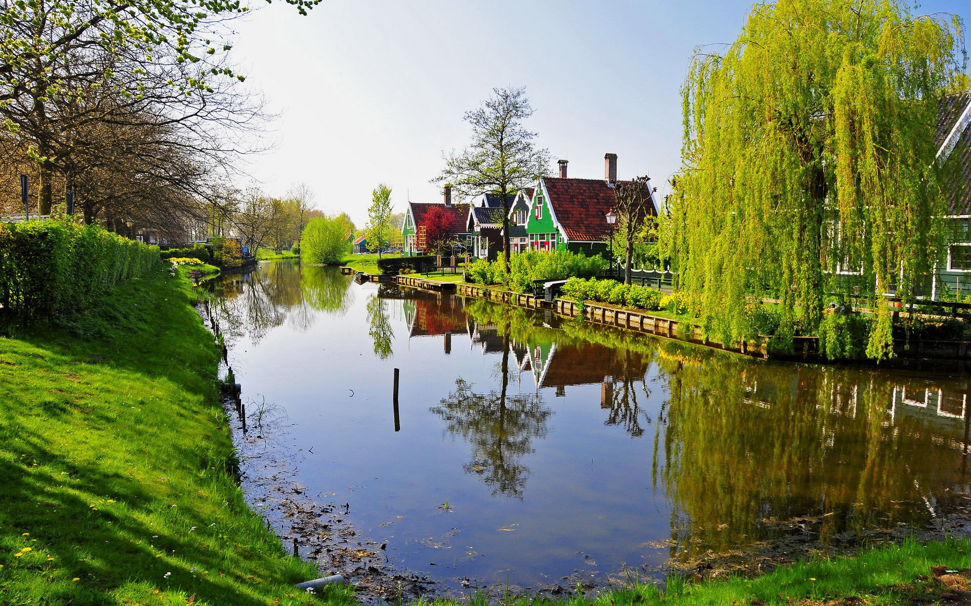 Canal in the village