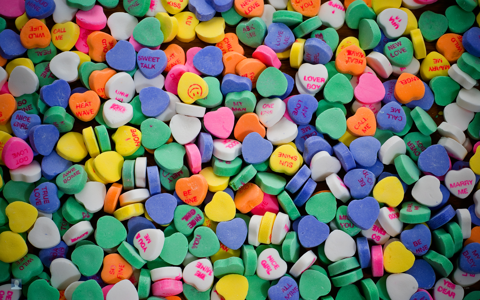 Candy hearts valentine's day