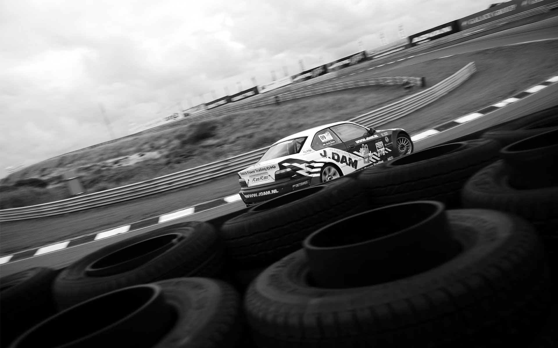 cars monochrome car tires greyscale race tracks