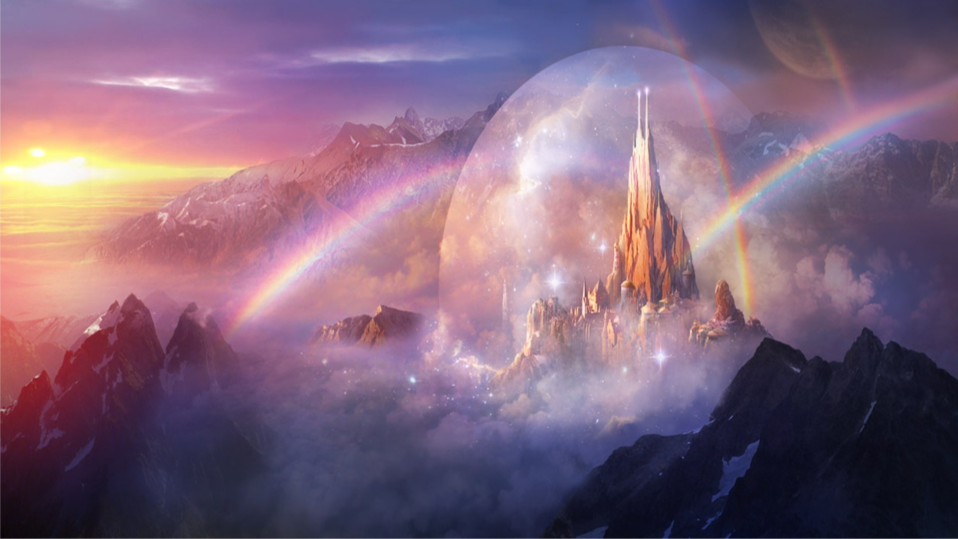 Castle in the rainbows