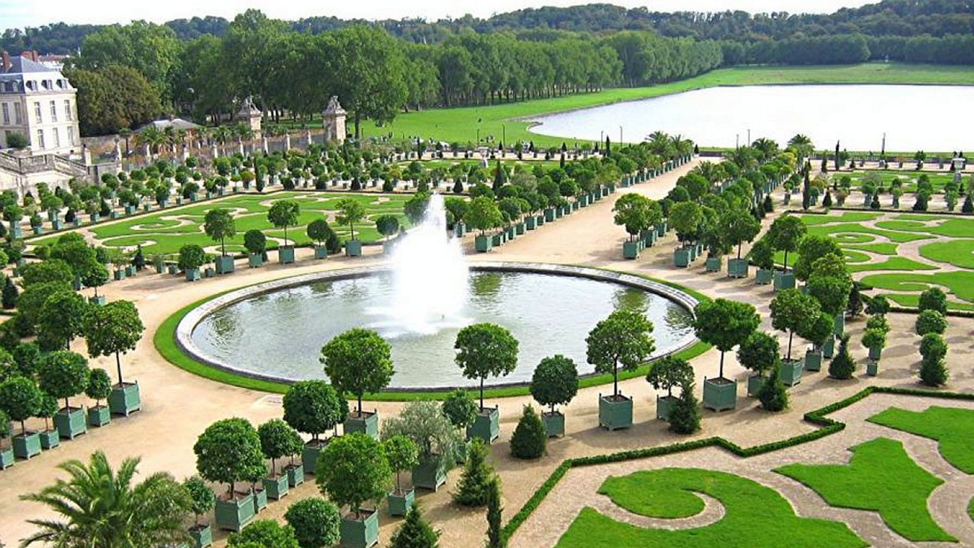 CHATEAU de VERSAILLES palace france french building garden fountain
