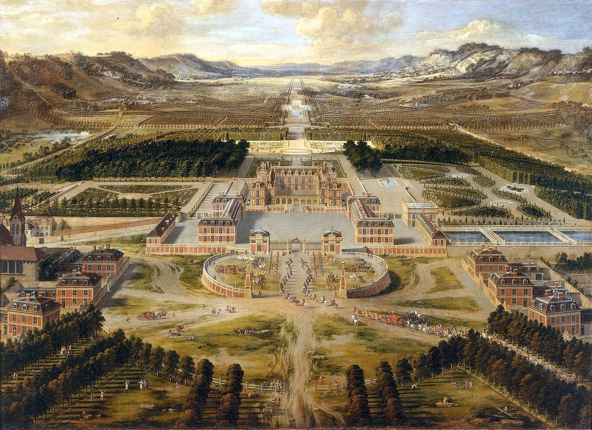 CHATEAU de VERSAILLES palace france french building painting