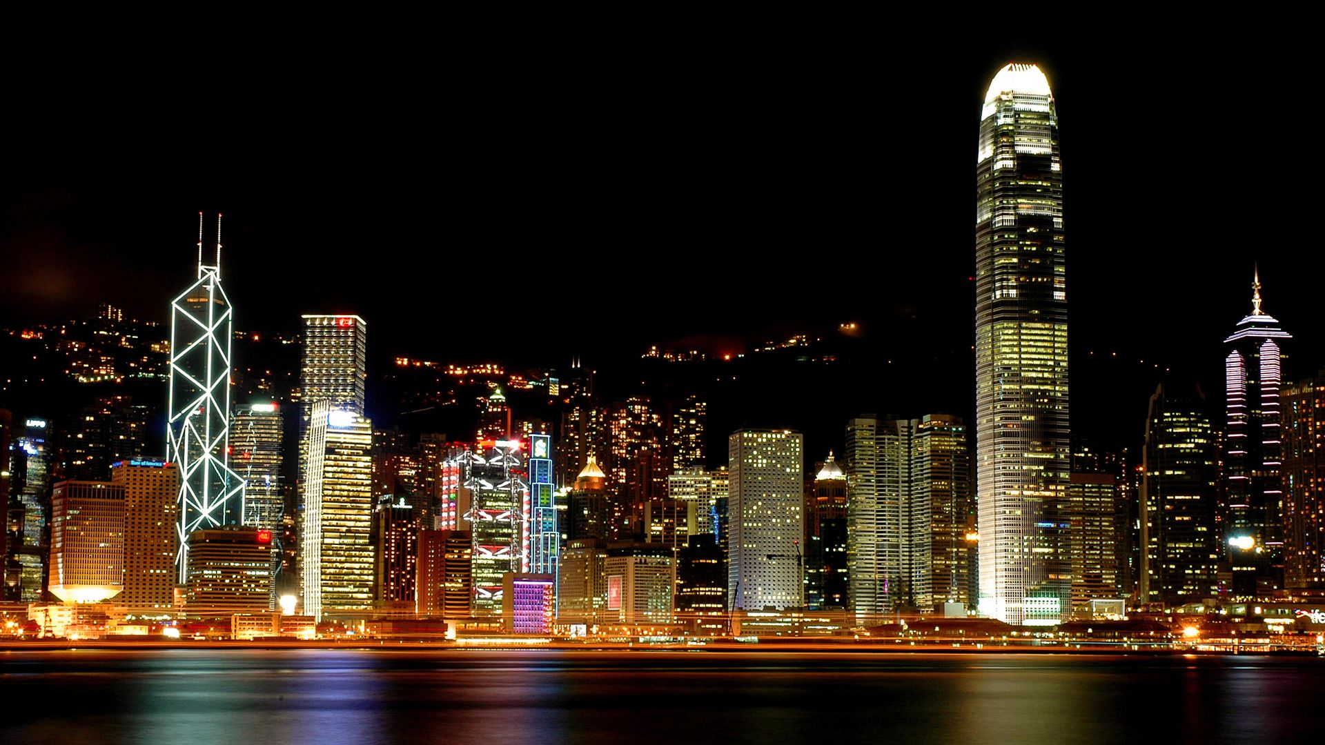 China hong kong night