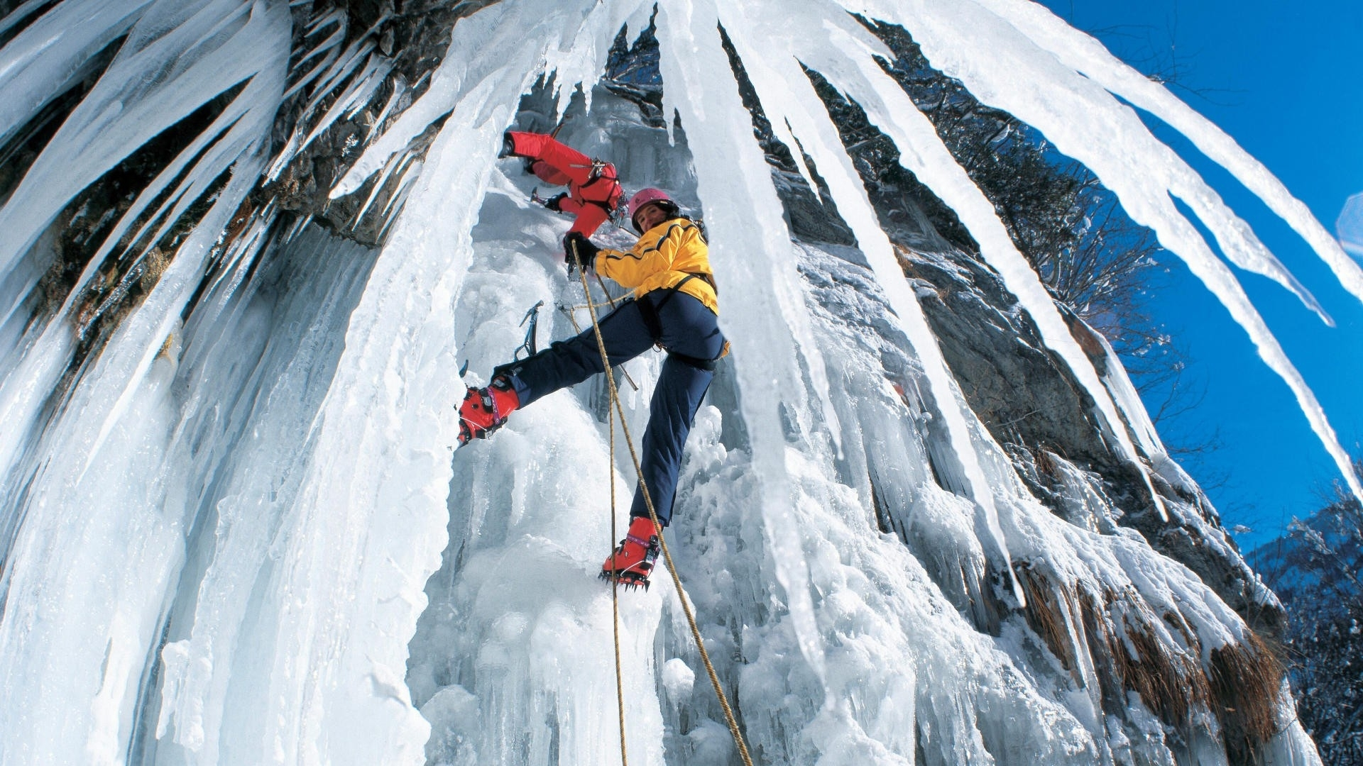 climb ice extreme people mountains