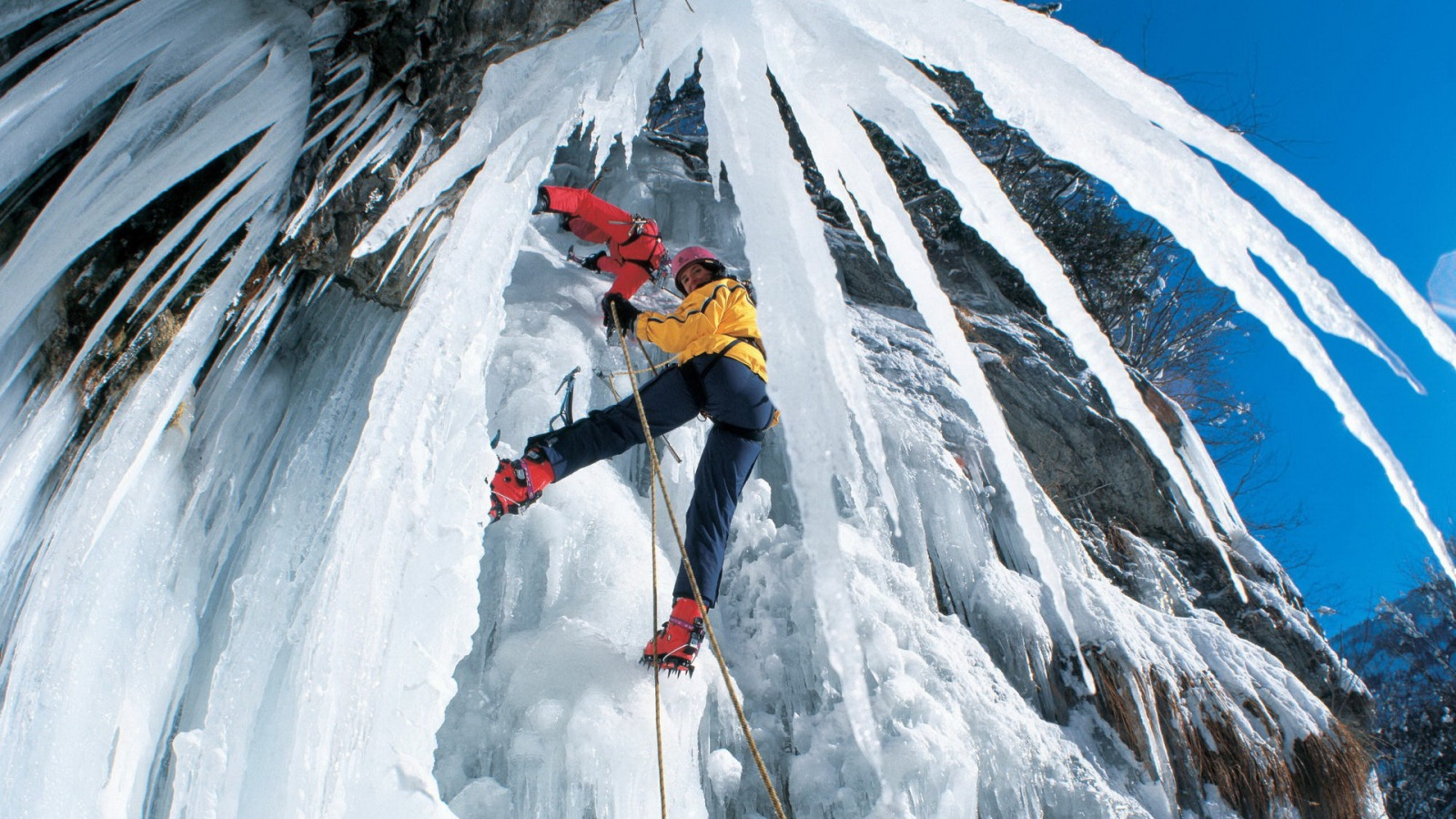 climbing ice mountains