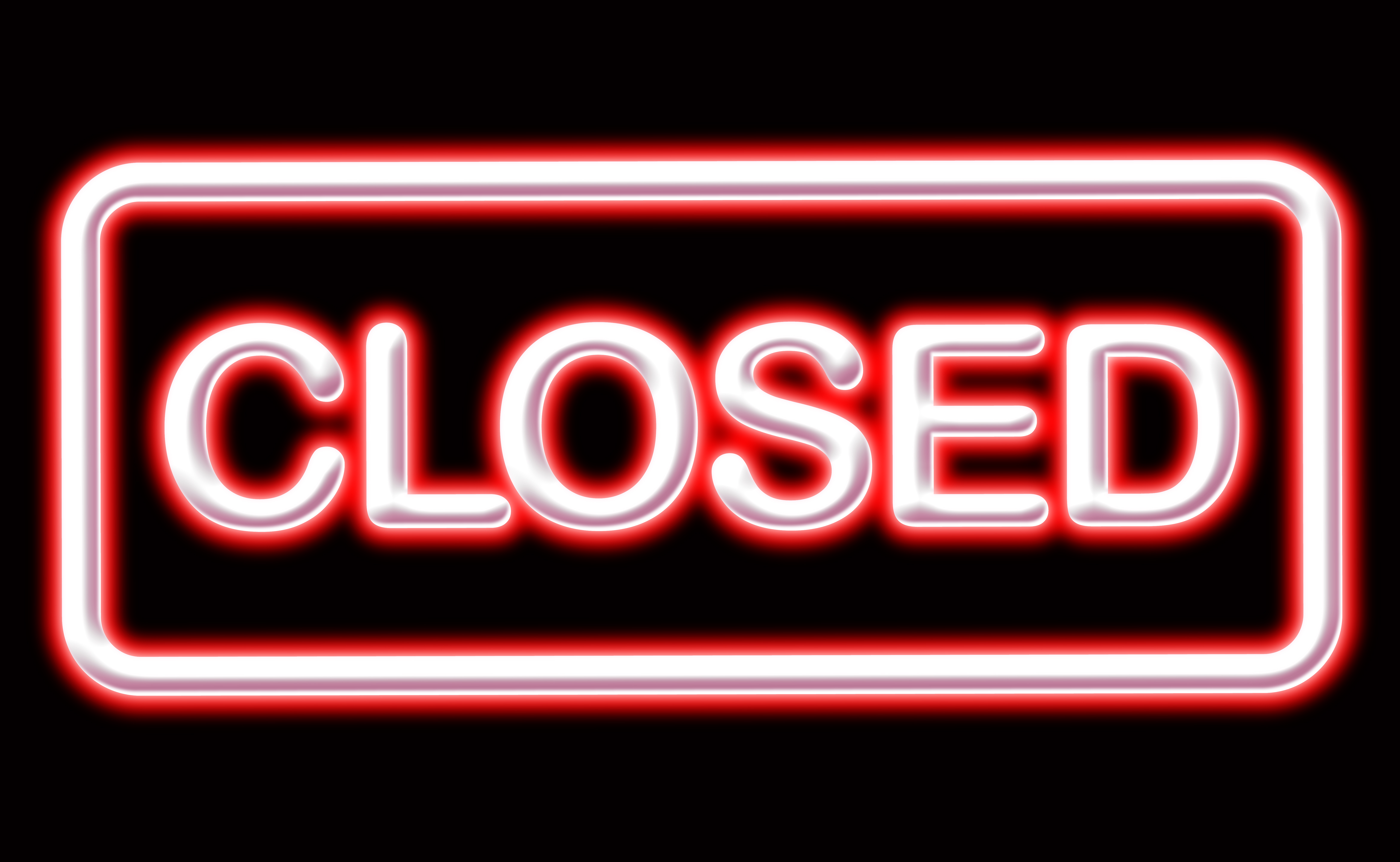 CLOSED sign text word (10)