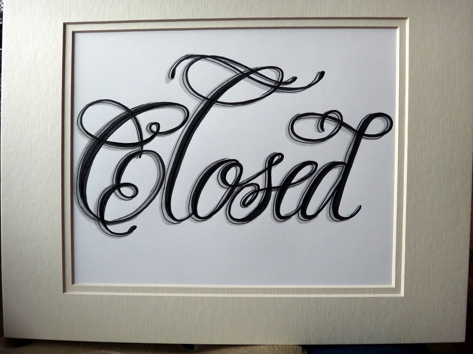 CLOSED sign text word (12)