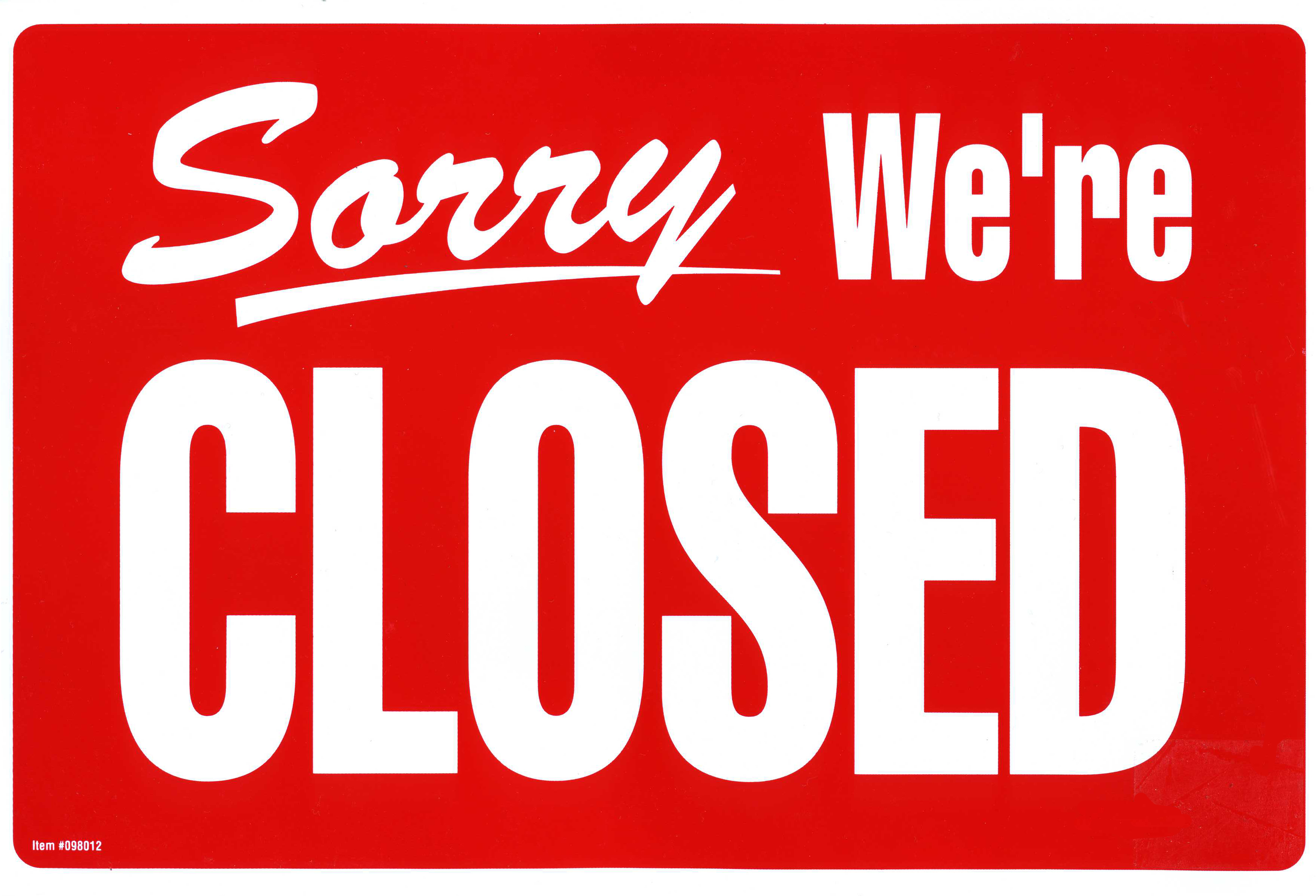 CLOSED sign text word (4)