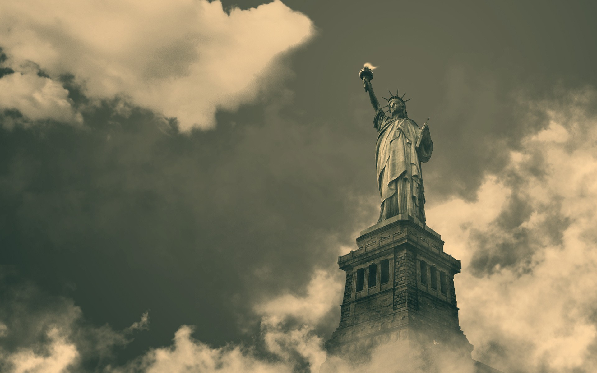 Clouds new york city statue of liberty historical new york giants