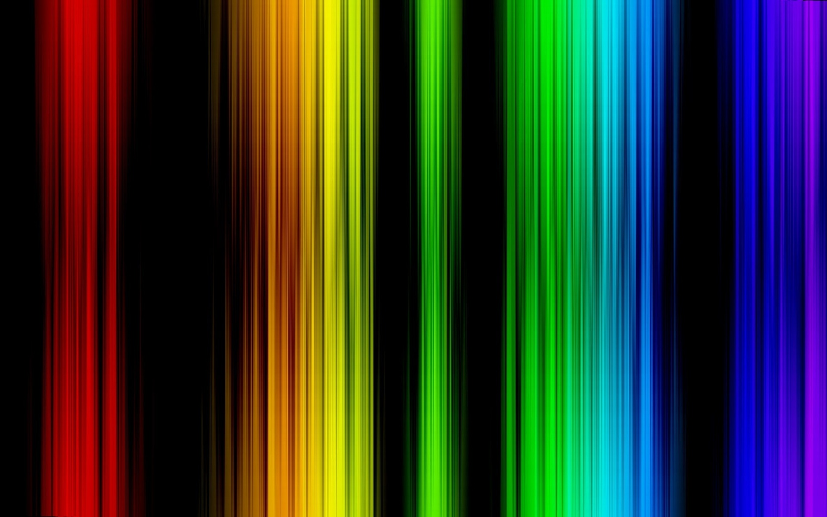 Colorful glowing lines