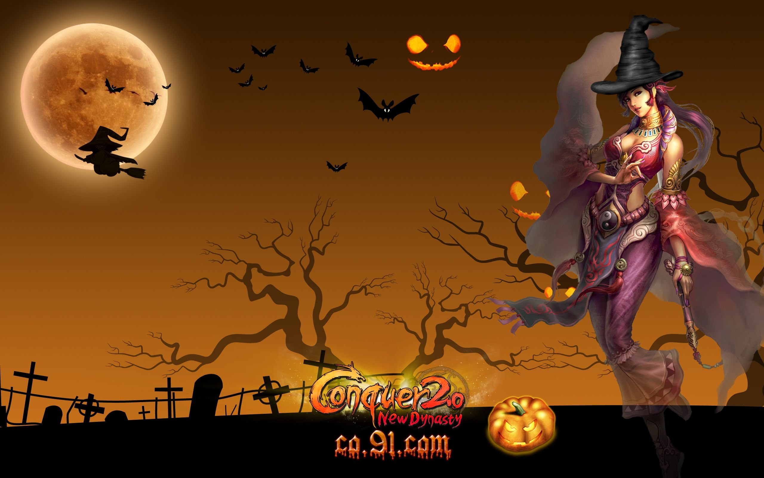 CONQUER ONLINE fantasy mmo rpg martial action fighting 1cono warrior poster halloween witch