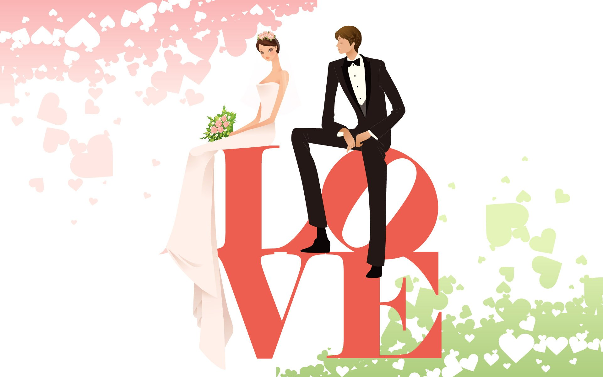 couple love mood people men women wedding bride vector