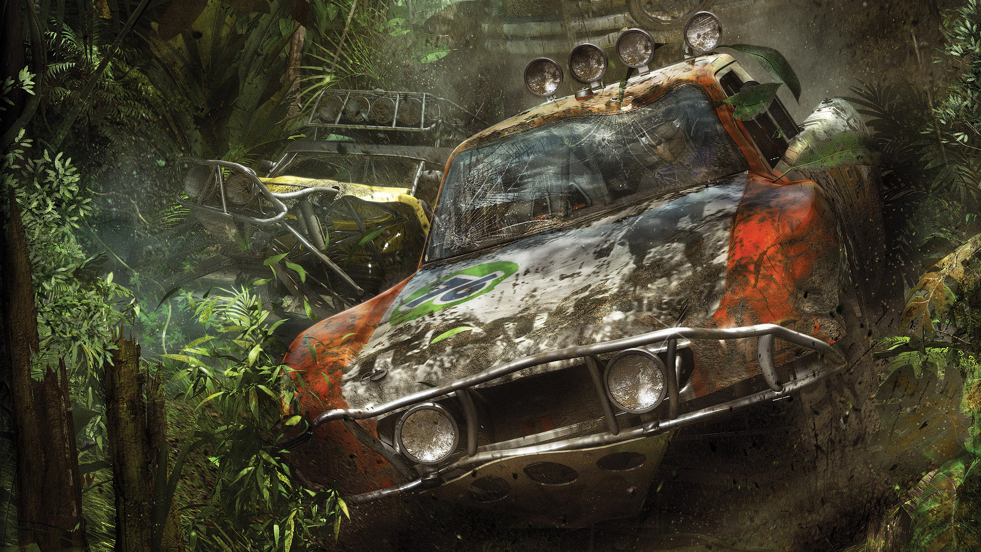 Crashed car in the jungle