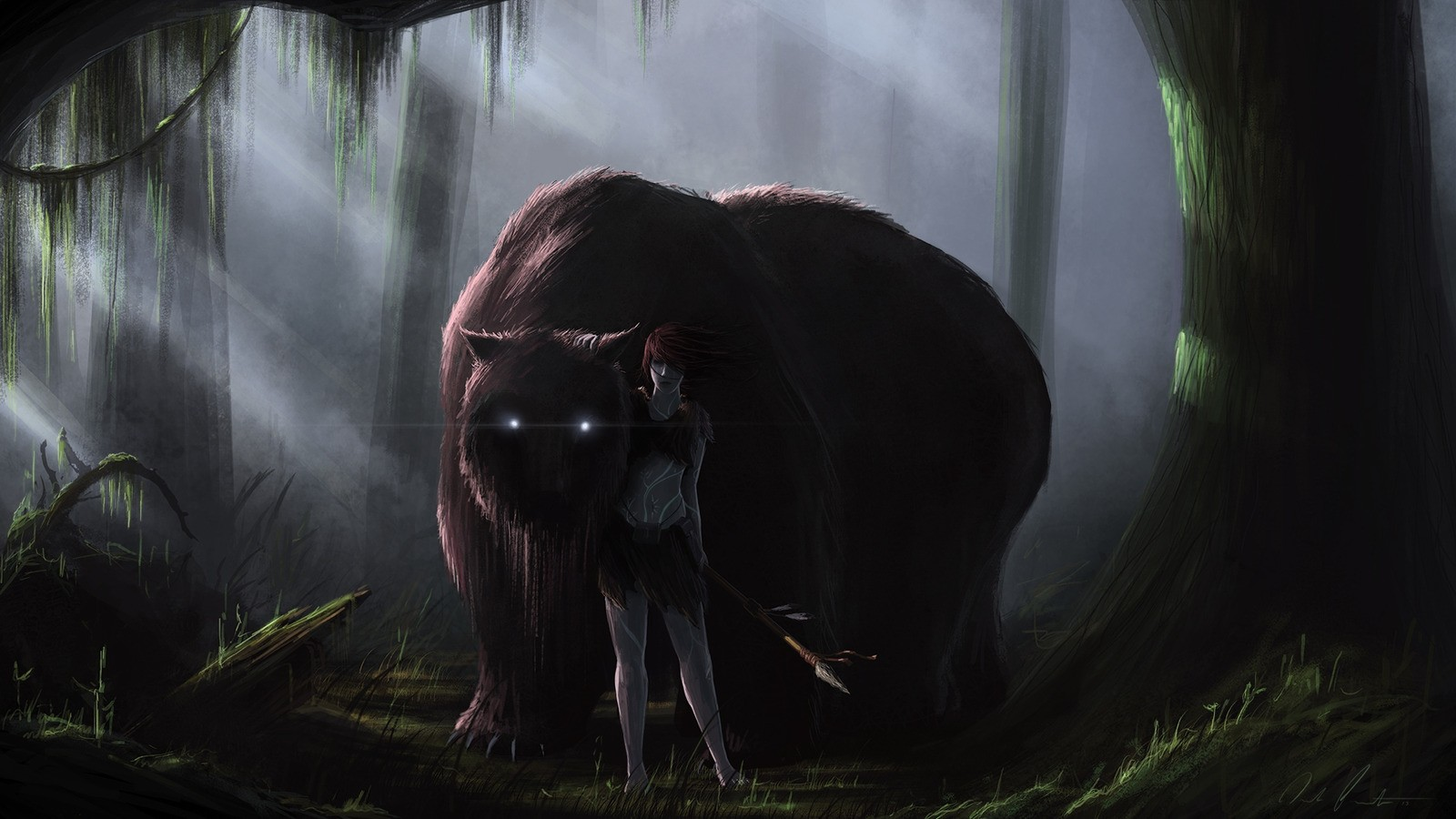 Creature Creepy Forest Drawing Warrior