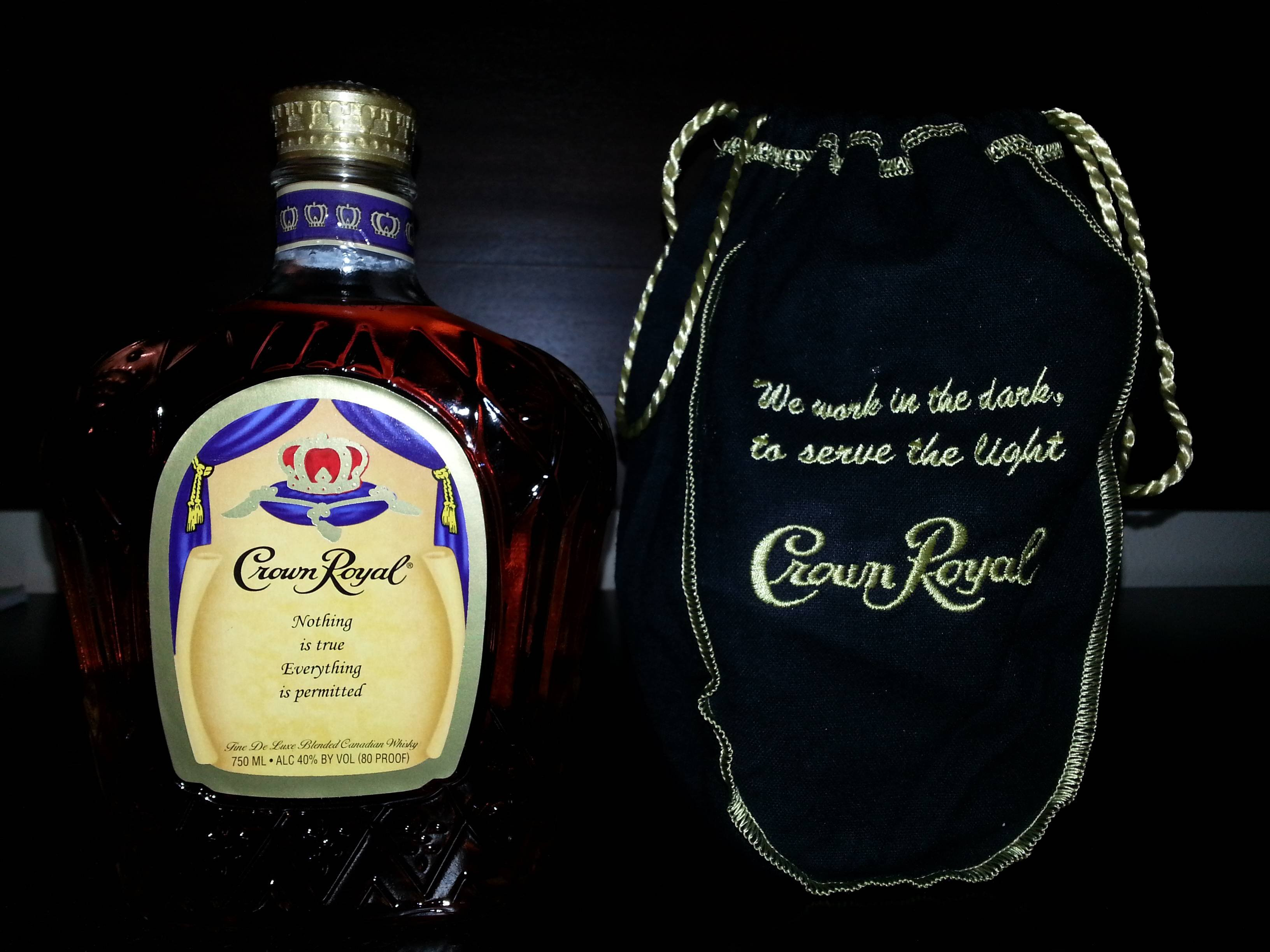 CROWN ROYAL canadian whisky alcohol