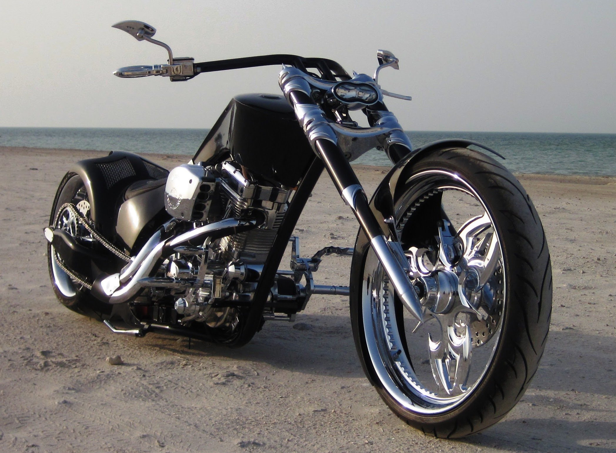 CUSTOM CHOPPER motorbike tuning bike hot rod rods   e