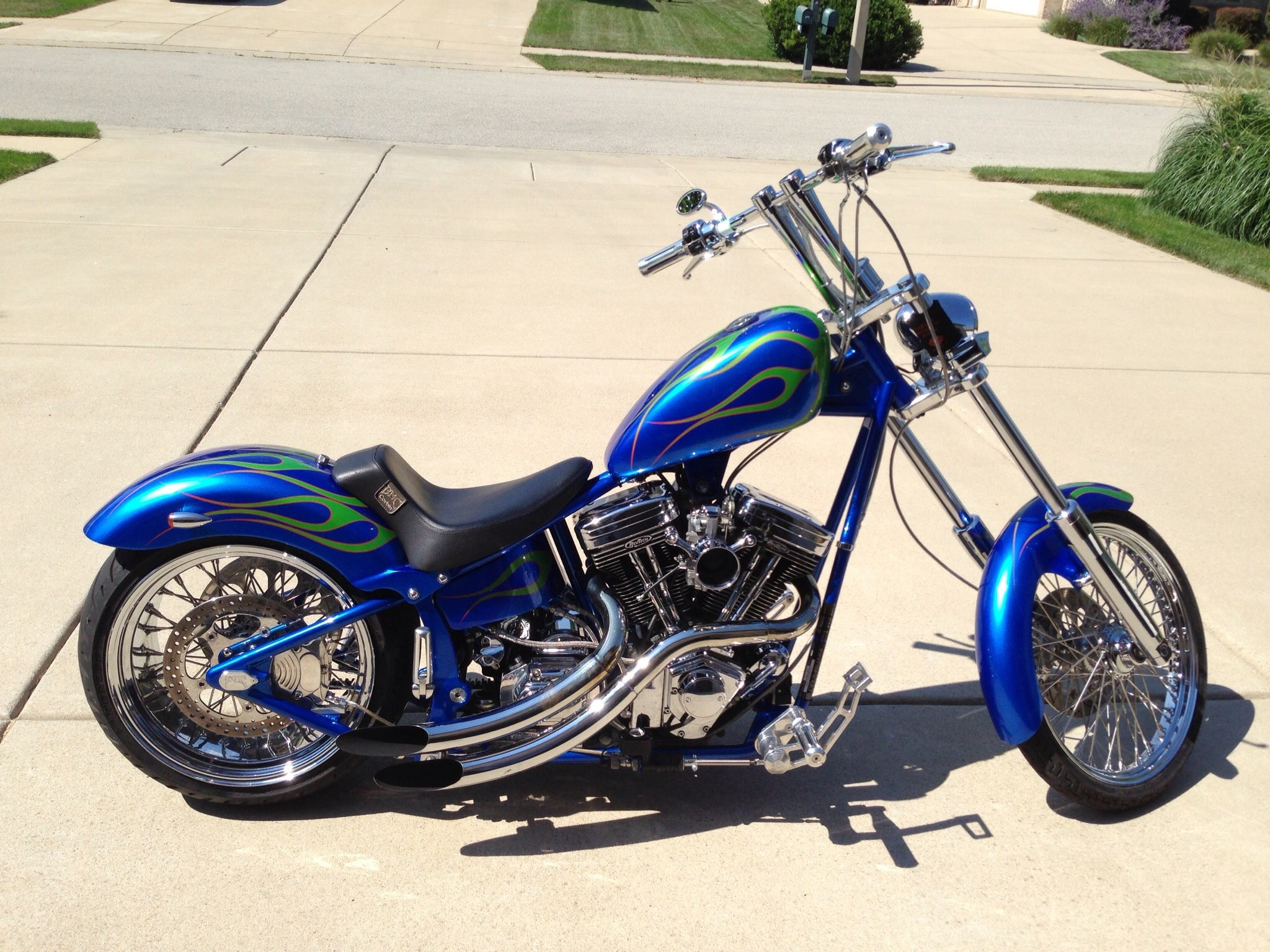 CUSTOM CHOPPER motorbike tuning bike hot rod rods    tu