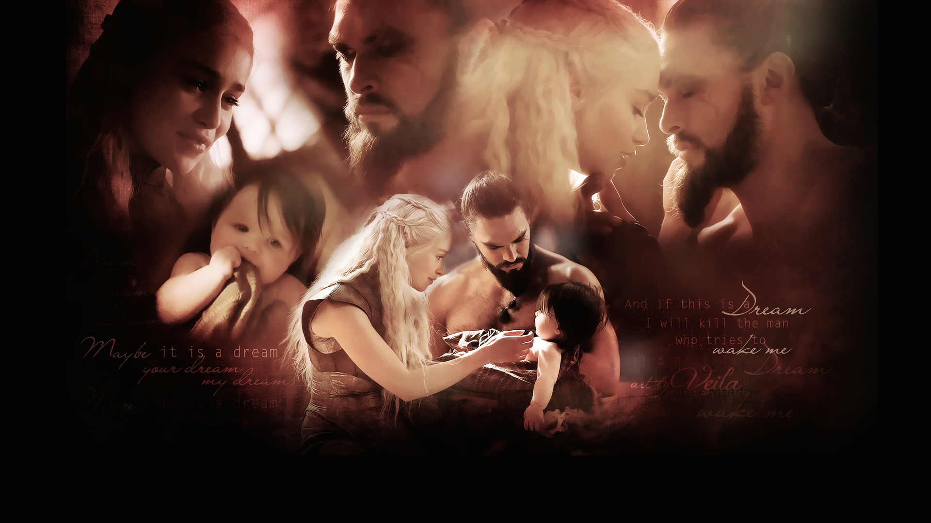 Daenerys Targaryen and Khal Drogo - Game Of Thrones