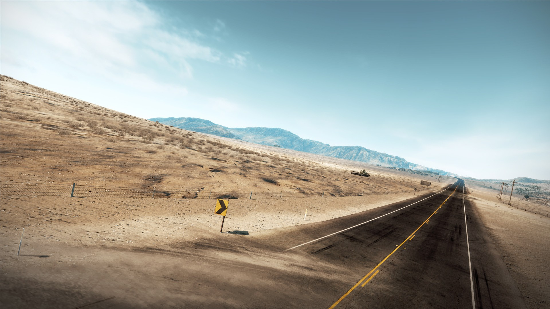 deserts CGI highways roads digital art