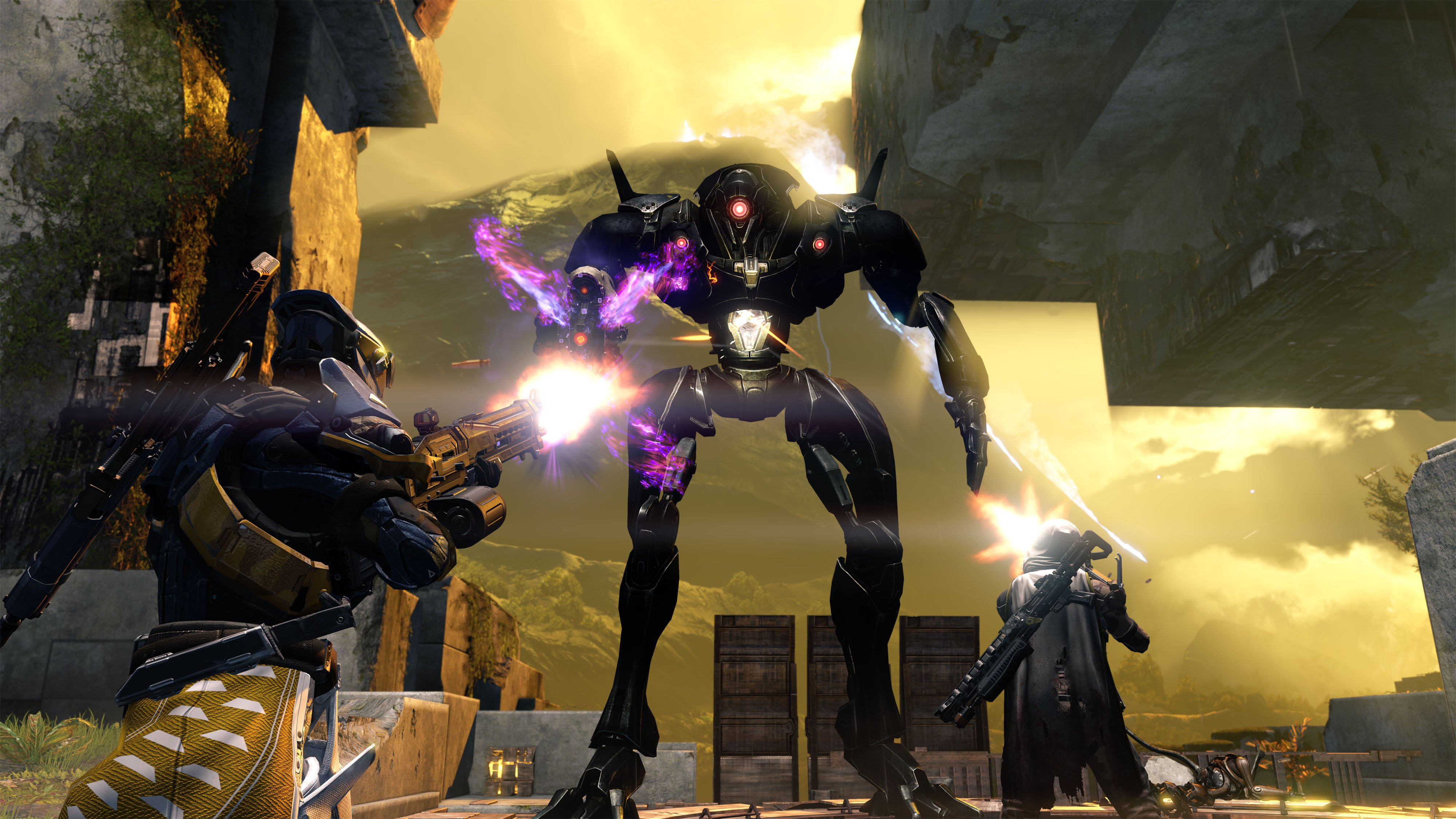 DESTINY sci-fi shooter fps action fighting futuristic warrior rpg mmo online artwork