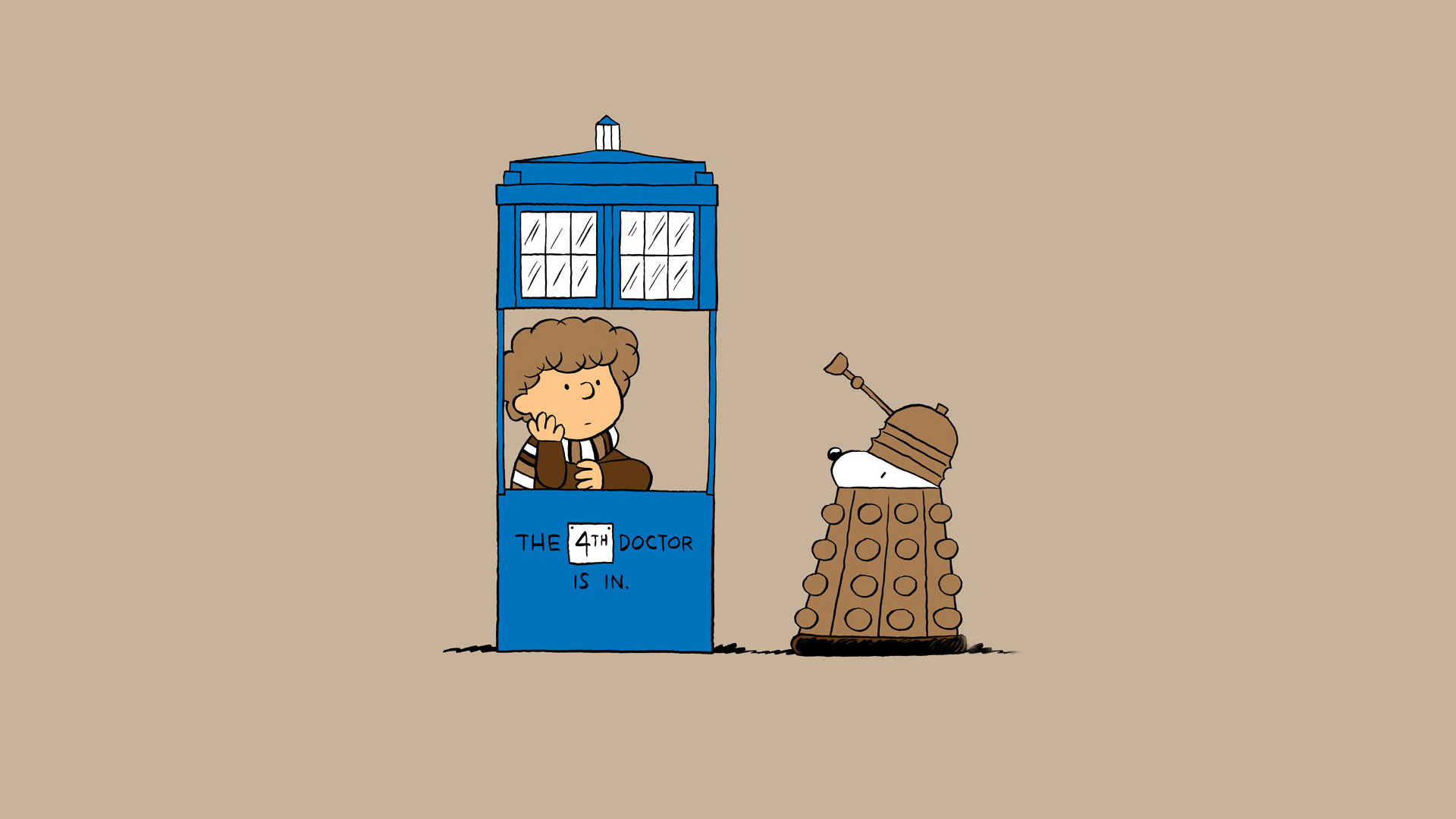 Doctor Who and The Charlie Brown and Snoopy Show crossover